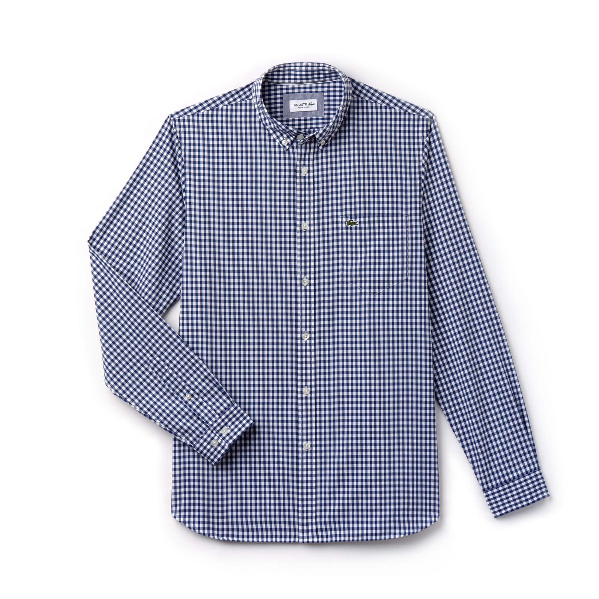 Camisa Popelín Mini-Cuadros