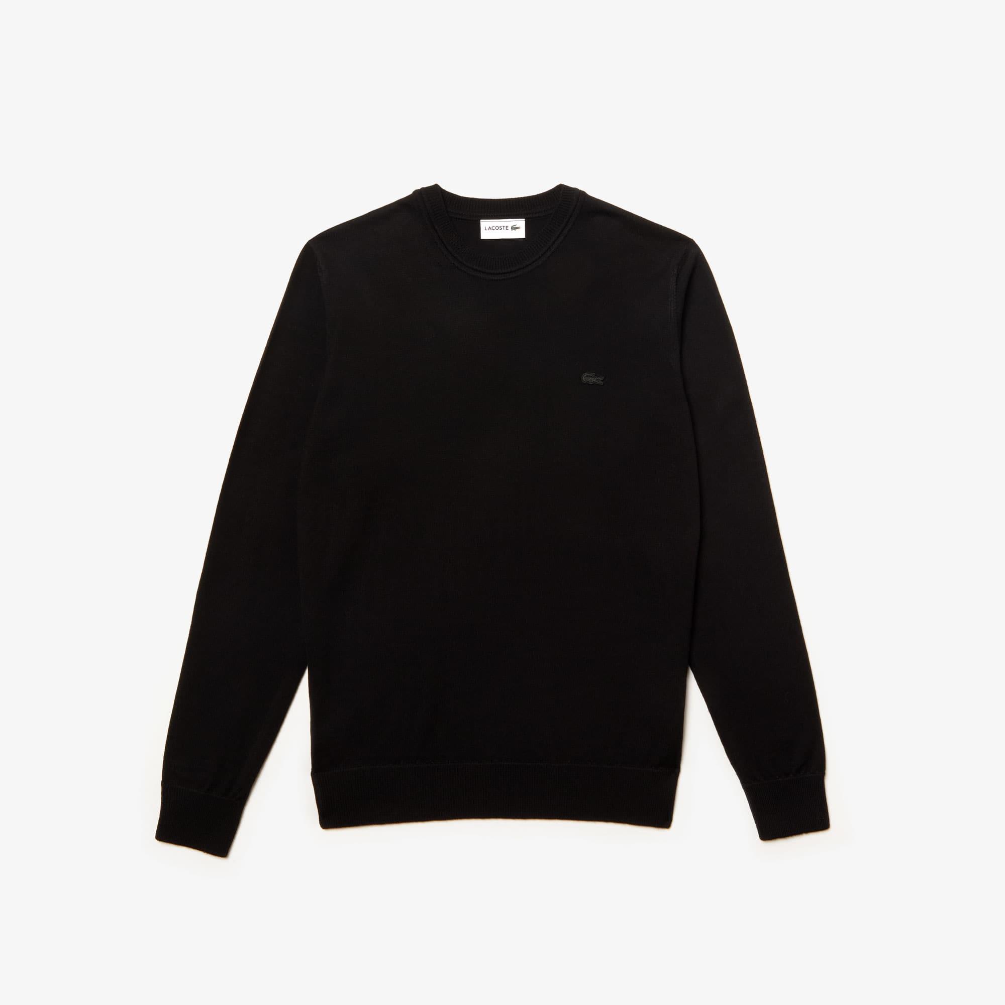 Jersey de hombre en tejido de punto de lana con cuello redondo