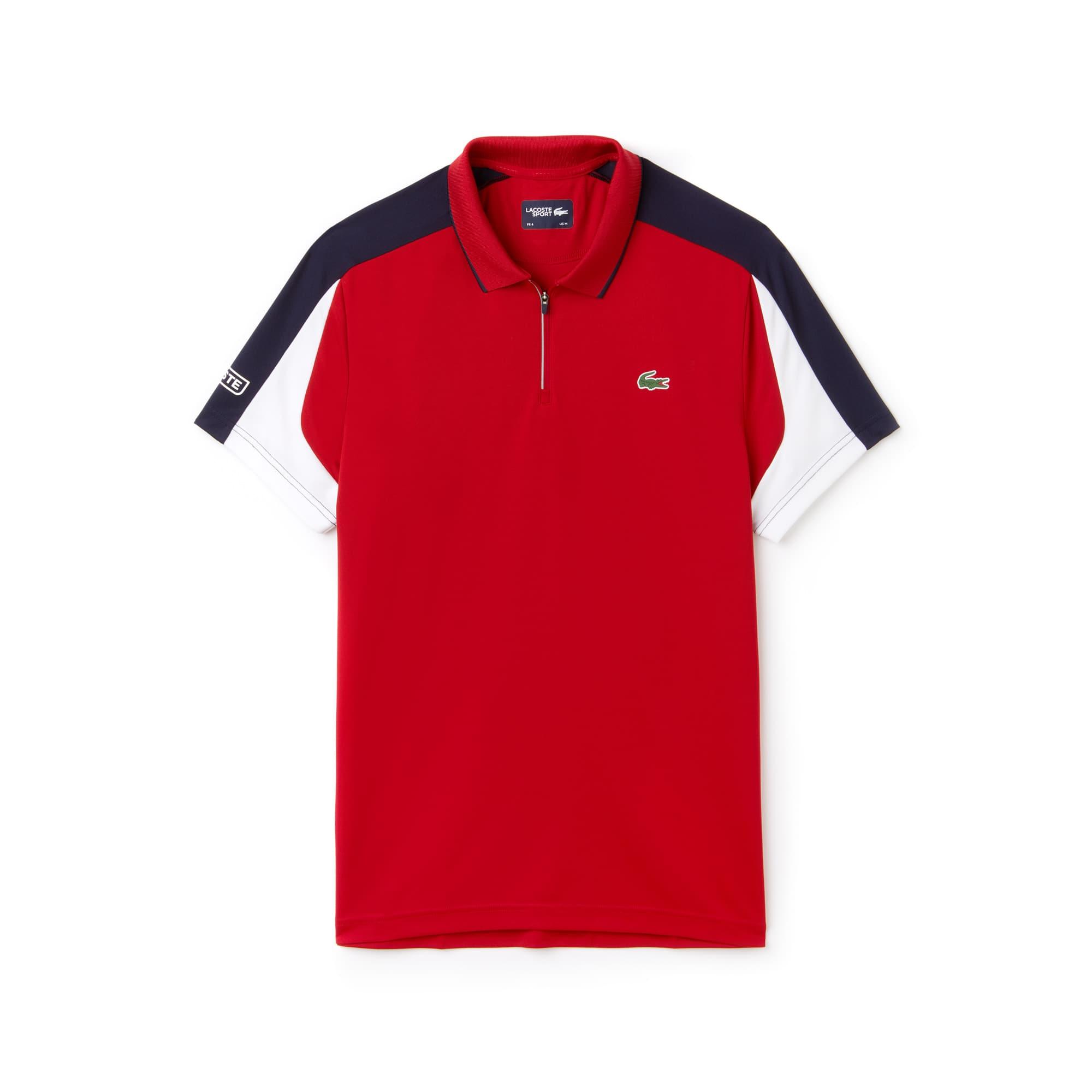 Lacoste - Polo De Hombre Lacoste SPORT Tennis En Piqué Con Franjas A Contraste Y Cuello Cerrado Con Cremallera - 3