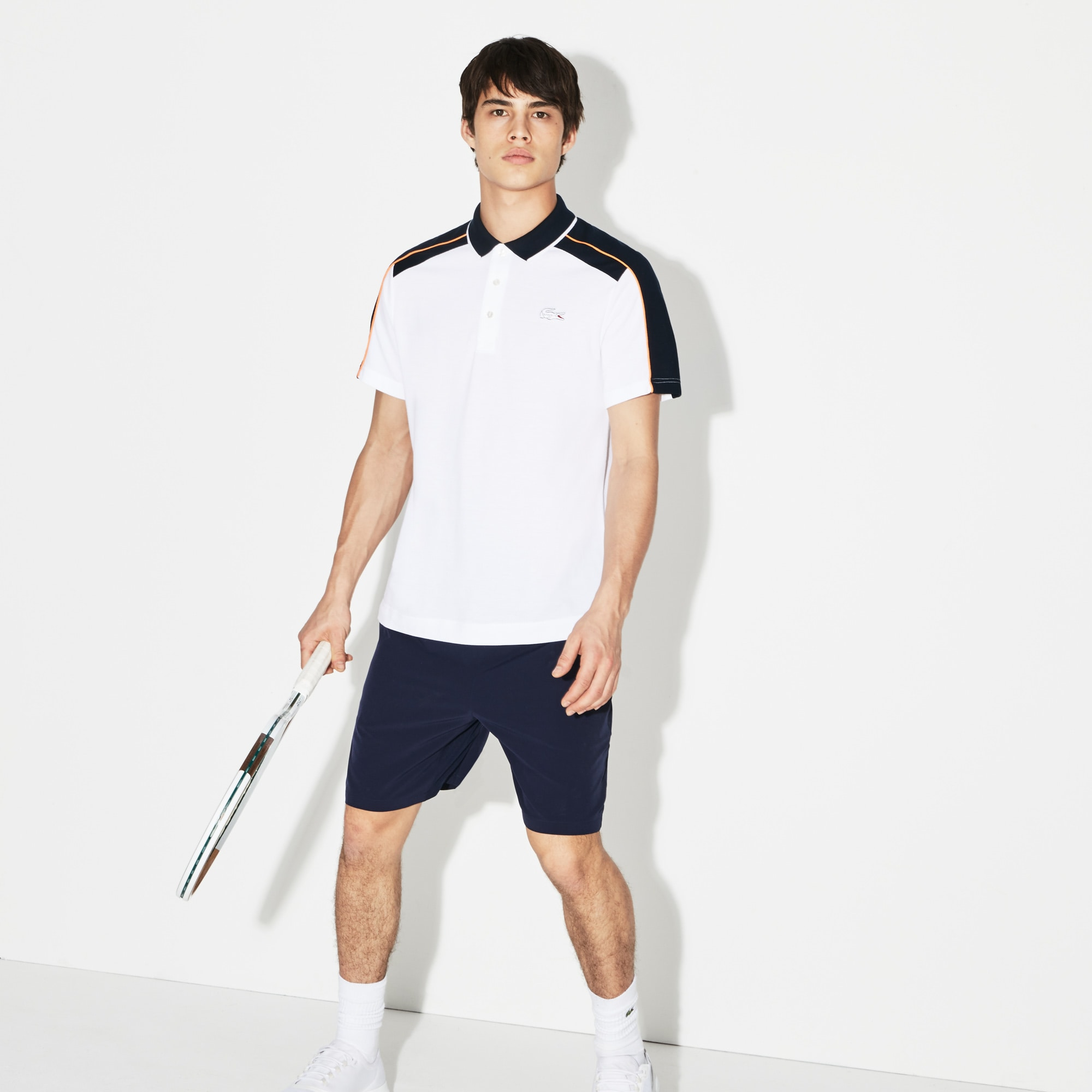 Polo Lacoste Sport De Mini Piqué Edición Roland Garros