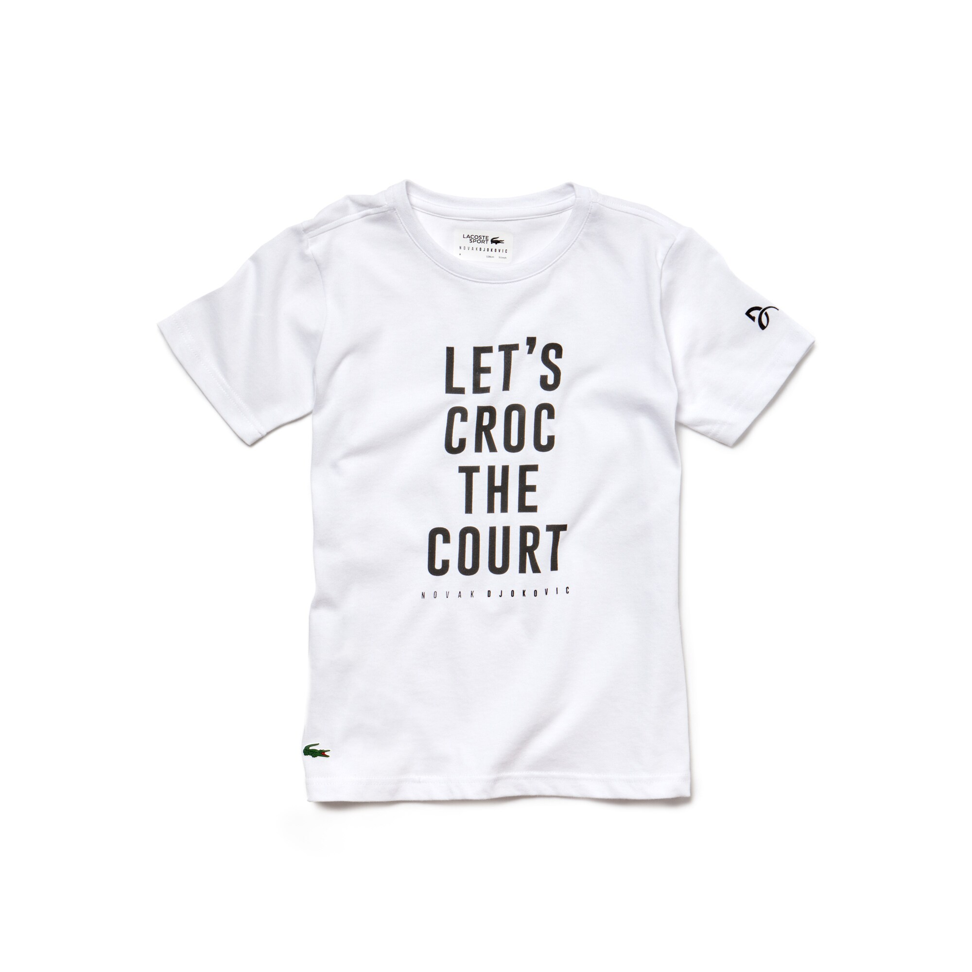 Lacoste - Camiseta De Niño Lacoste SPORT Novak Djokovic Support With Style -Off Court Collection En Tejido De Punto Técnico Con Inscripción - 1