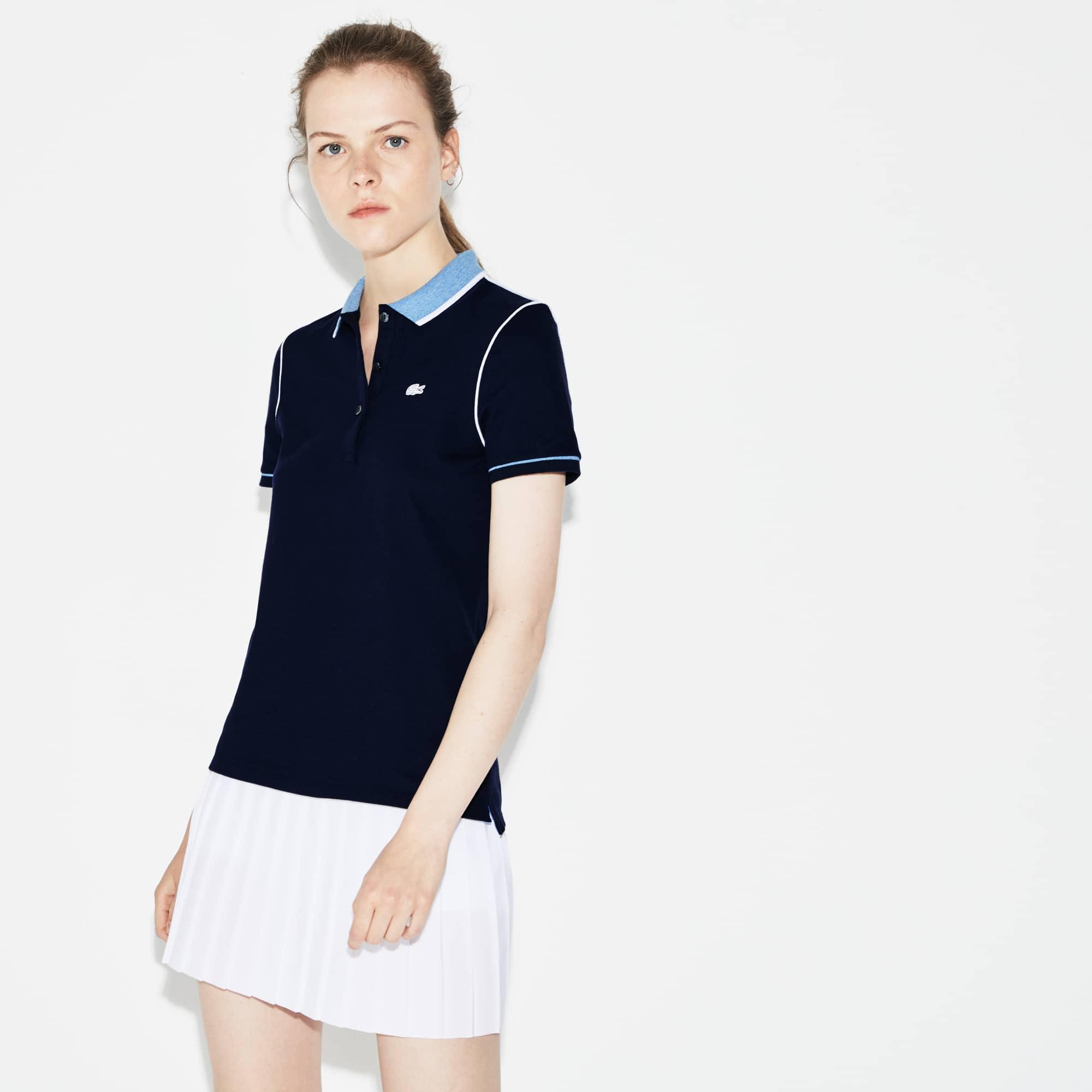 Polo Lacoste SPORT de mini piqué elástico Edición Roland Garros