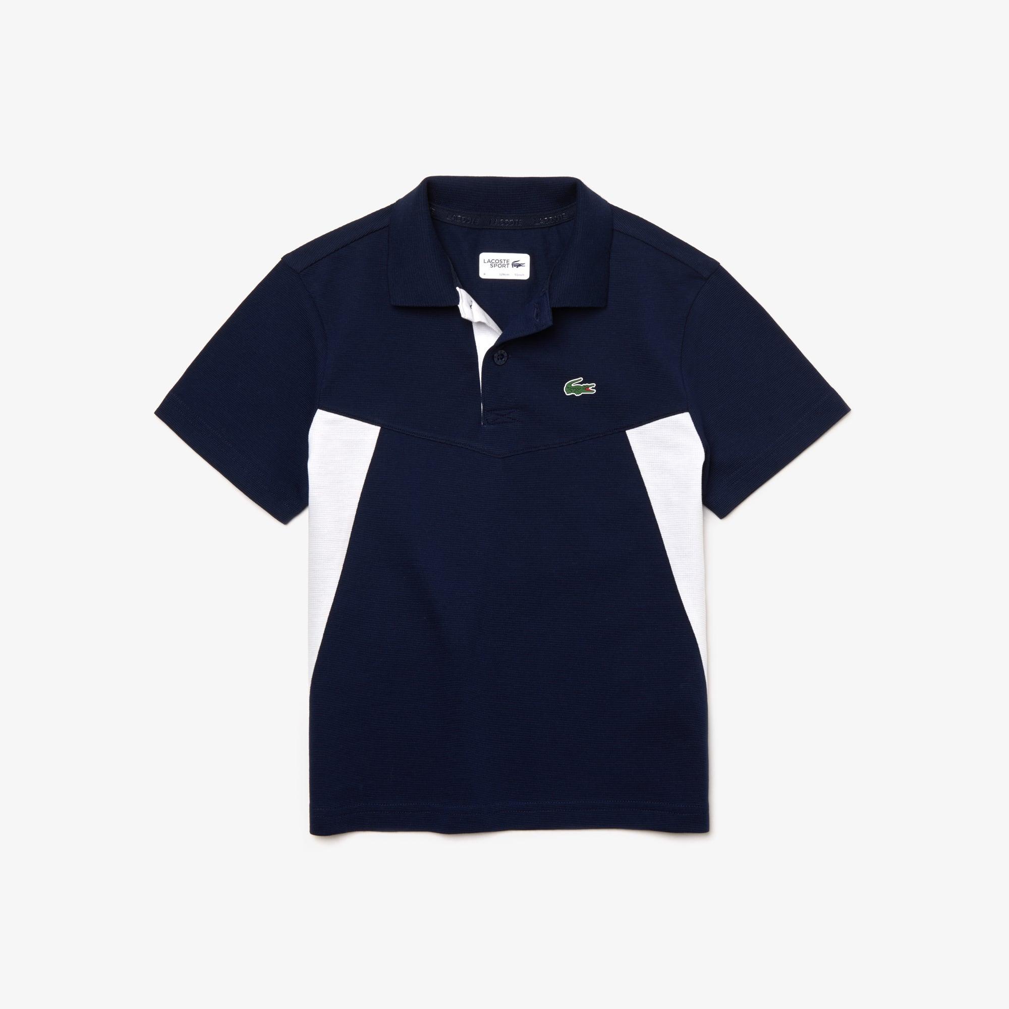 + 1 color · Polo de niño Lacoste SPORT Tennis en algodón ultraligero color  block a7ea609b6fbb3