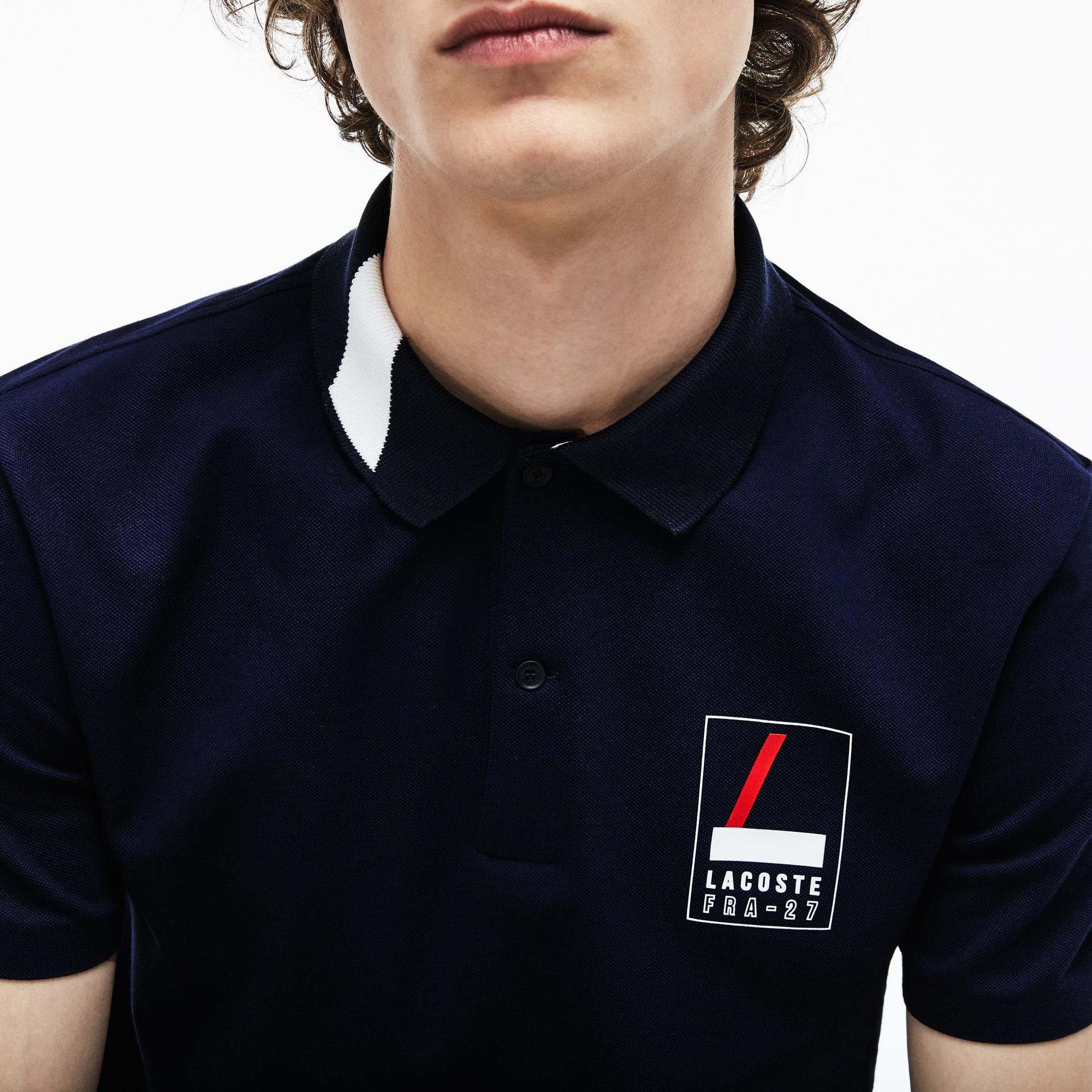 Lacoste - Polo De Hombre Lacoste Slim Fit En Mini Piqué Elástico Con Inscripción - 6