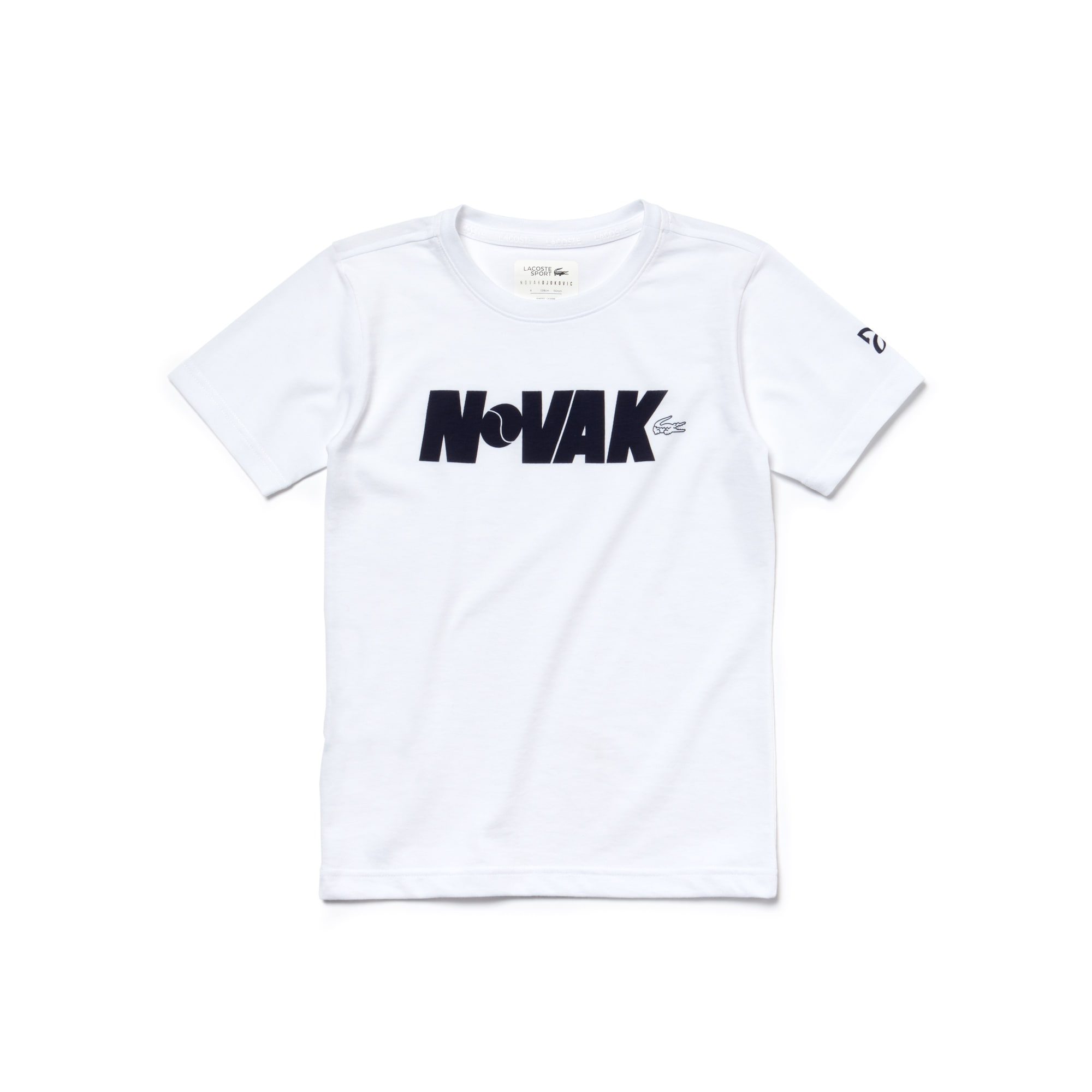 Camiseta Niño Lacoste Sport Collection Novak Djokovic Support With Style De Punto Liso Técnico