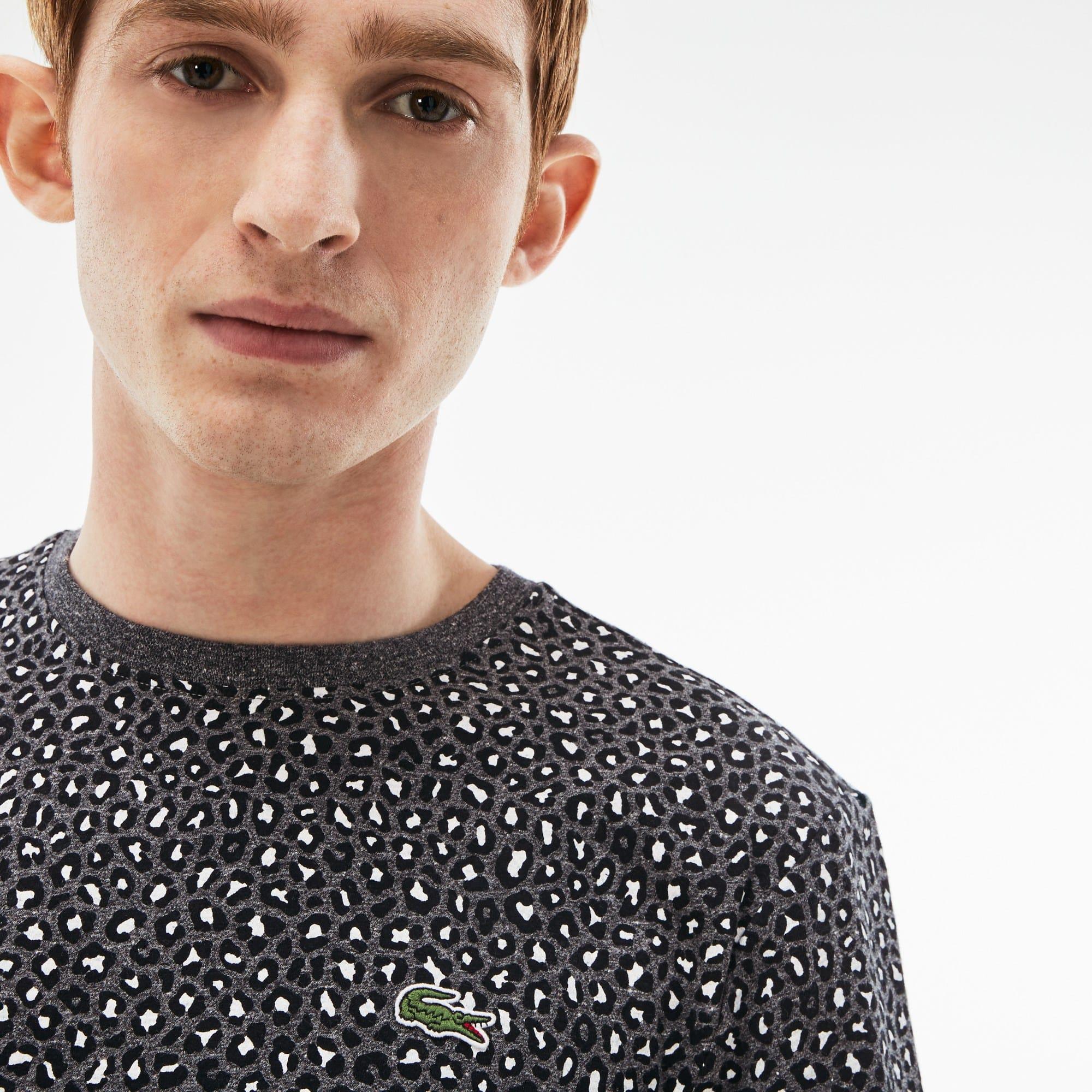 Lacoste - Camiseta De Hombre Lacoste LIVE En Tejido De Punto Con Estampado De Leopardo Y Cuello Redondo - 4