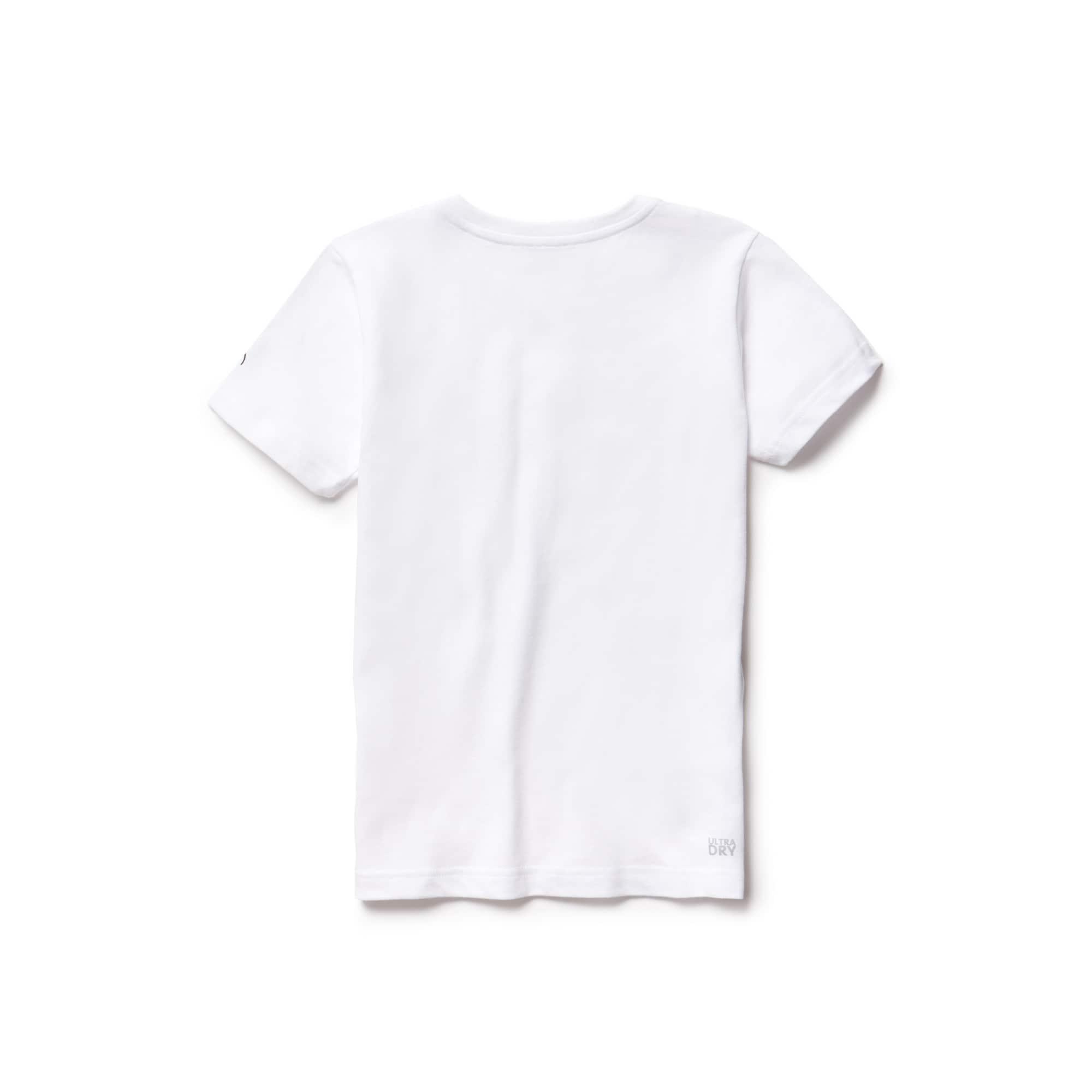 Lacoste - Camiseta De Niño Lacoste SPORT Novak Djokovic Support With Style -Off Court Collection En Tejido De Punto Técnico Estampado - 2