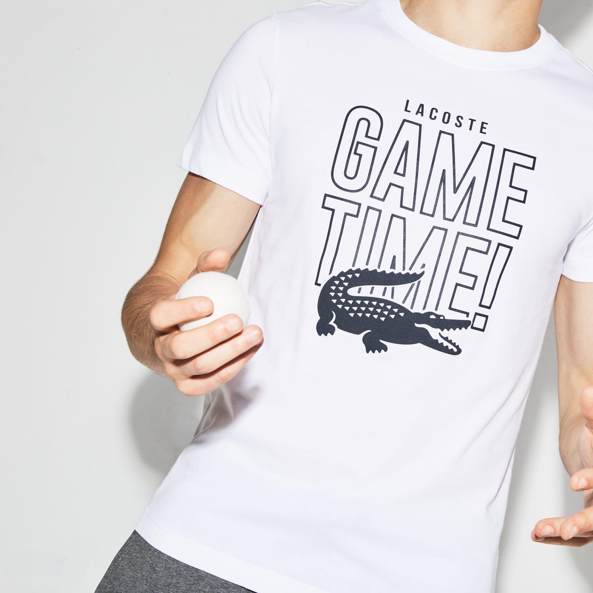 Lacoste - Camiseta De Hombre Lacoste SPORT Tennis Game Time En Tejido De Punto Con Cuello Redondo - 4