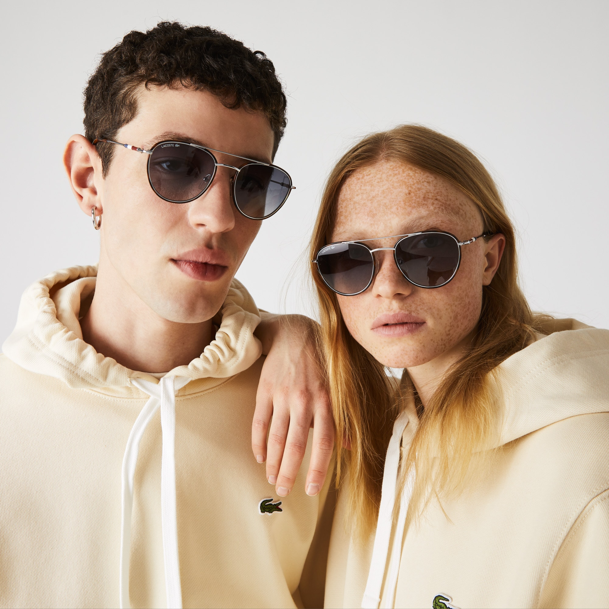 Gafas de sol Heritage unisex color block con montura metálica