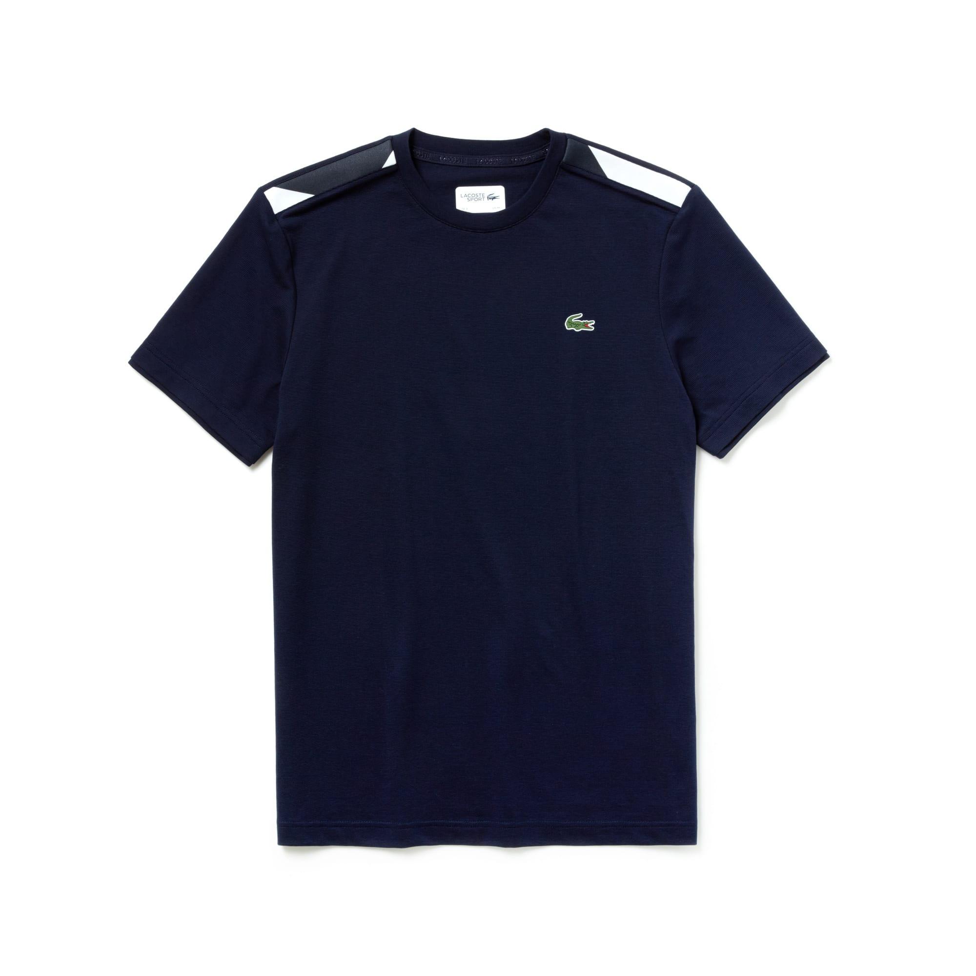 Camiseta De Hombre Lacoste SPORT Tennis En Algodón Con Detalles A Contraste