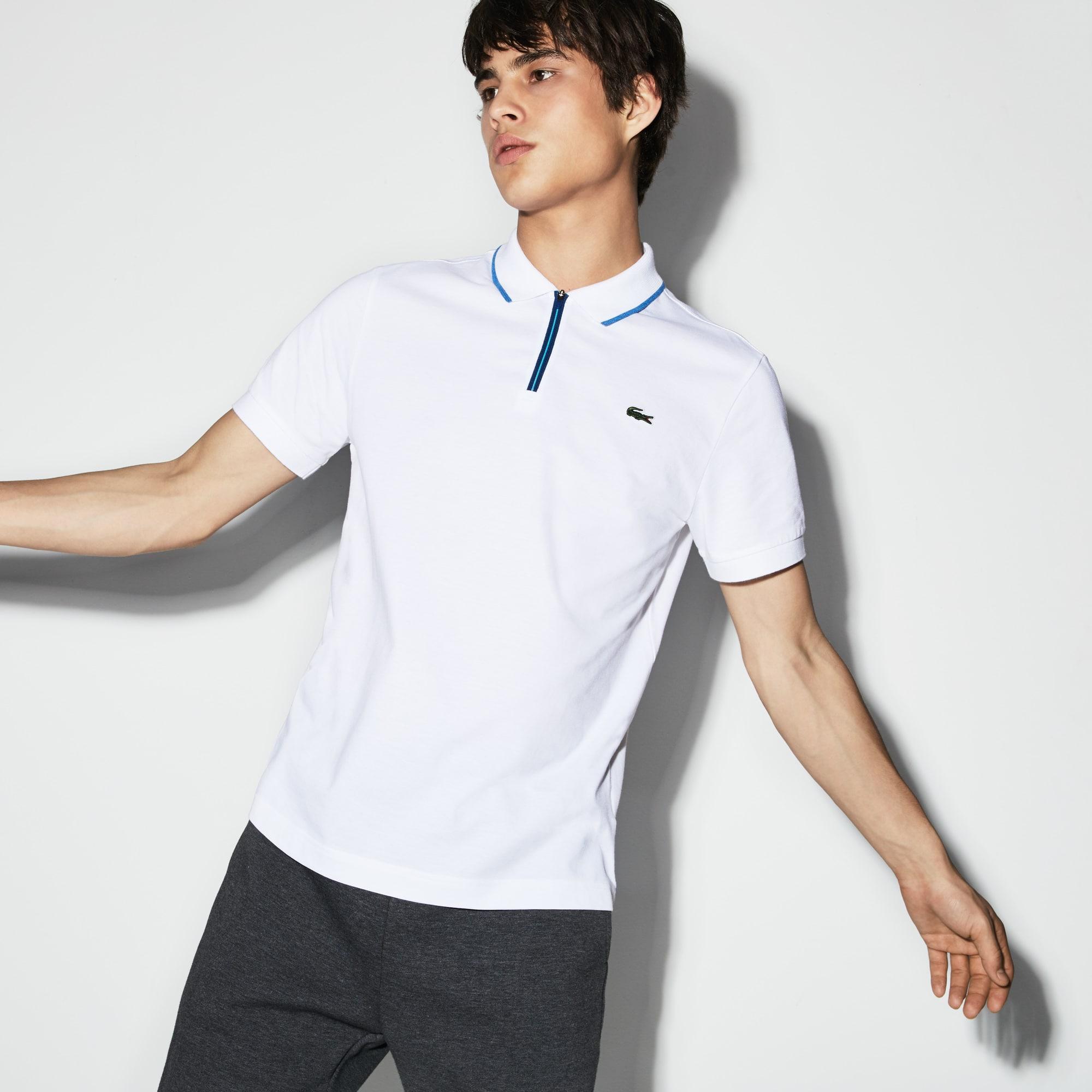 Polo Tenis Lacoste SPORT en algodón ultra ligero con detalles en contraste