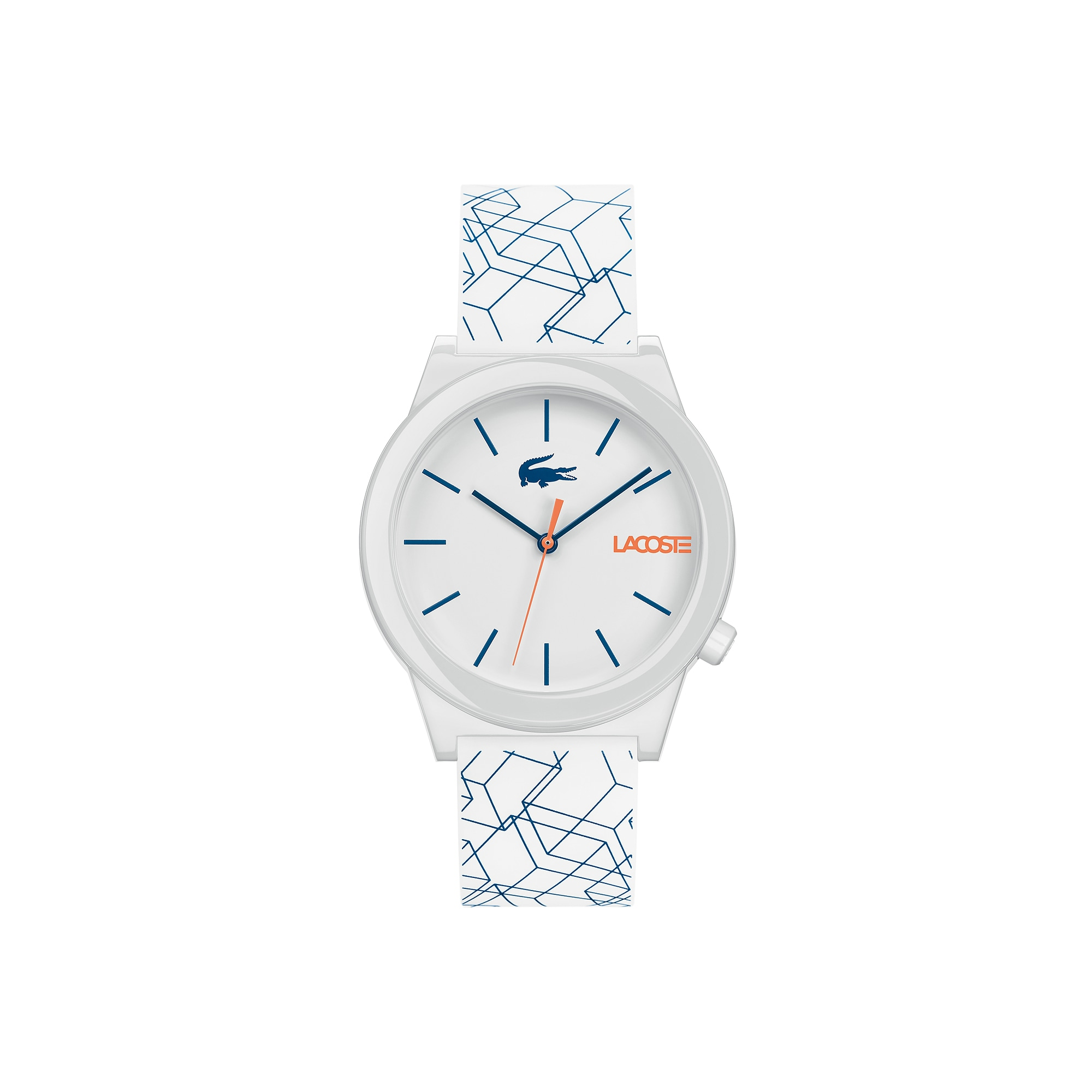 Reloj Motion con pulsera de silicona blanca