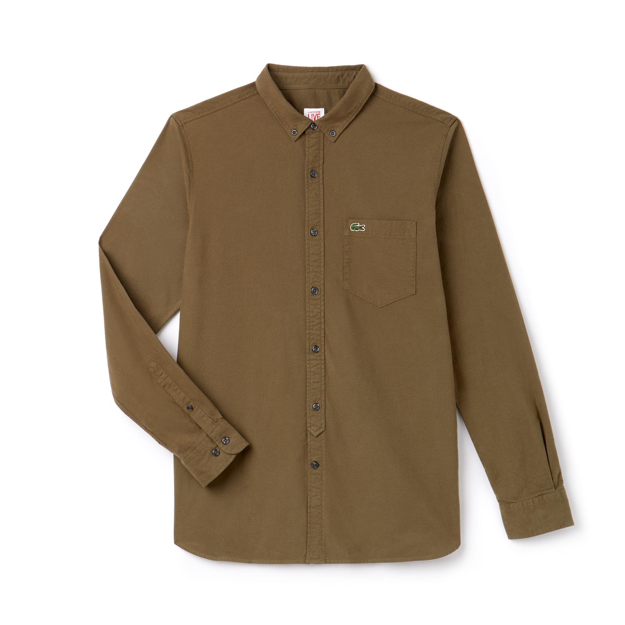 Camisa De Hombre Oxford Slim Fit Lacoste LIVE