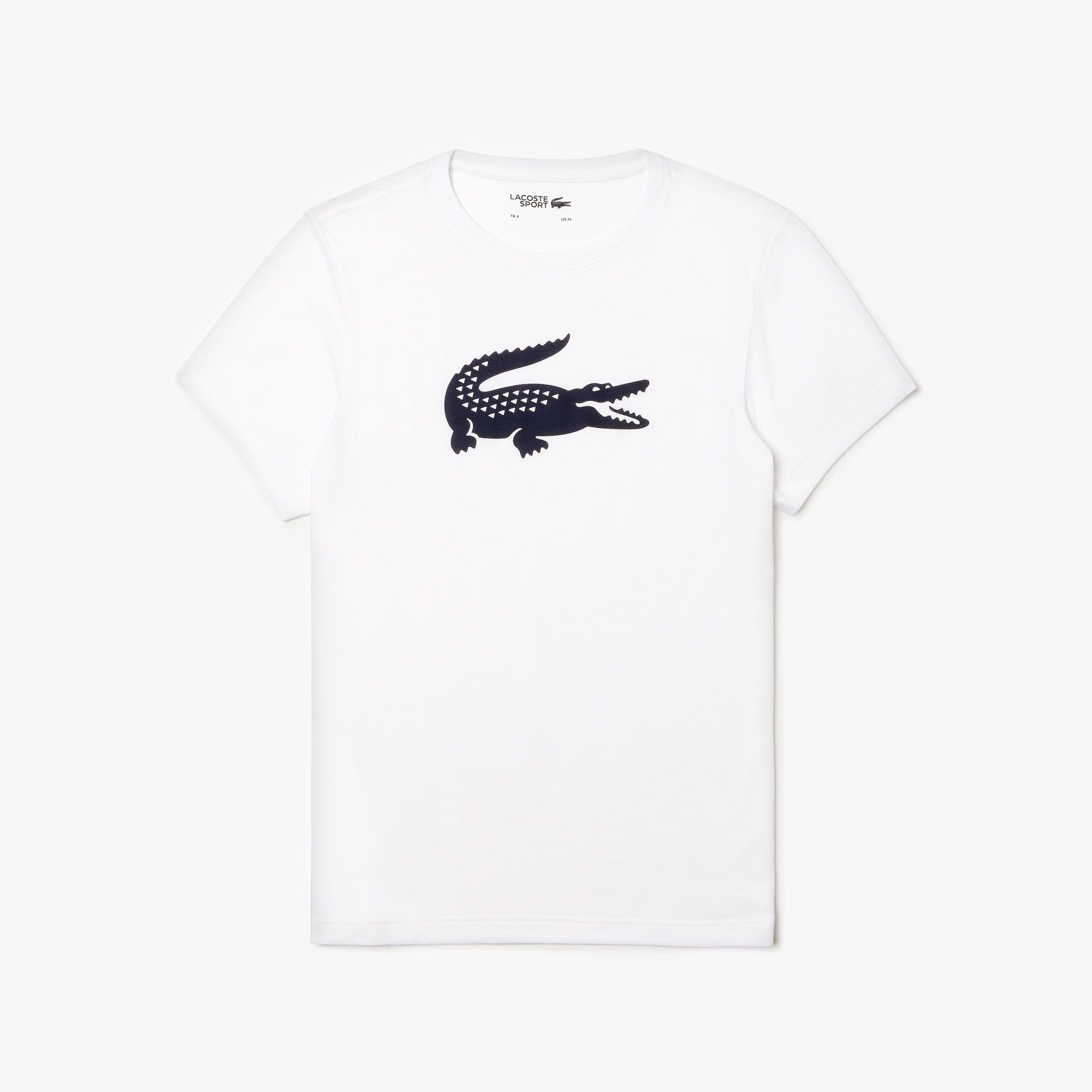 Camiseta Tenis Lacoste SPORT de punto técnico con cocodrilo de gran tamaño
