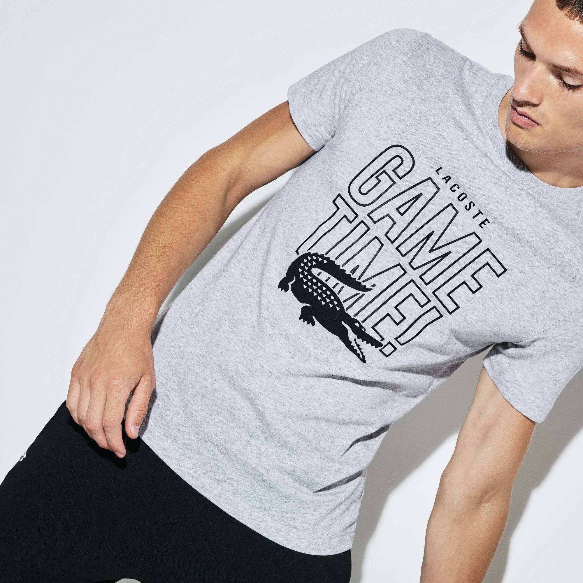 Camiseta De Hombre Lacoste SPORT Tennis Game Time En Tejido De Punto Con Cuello Redondo