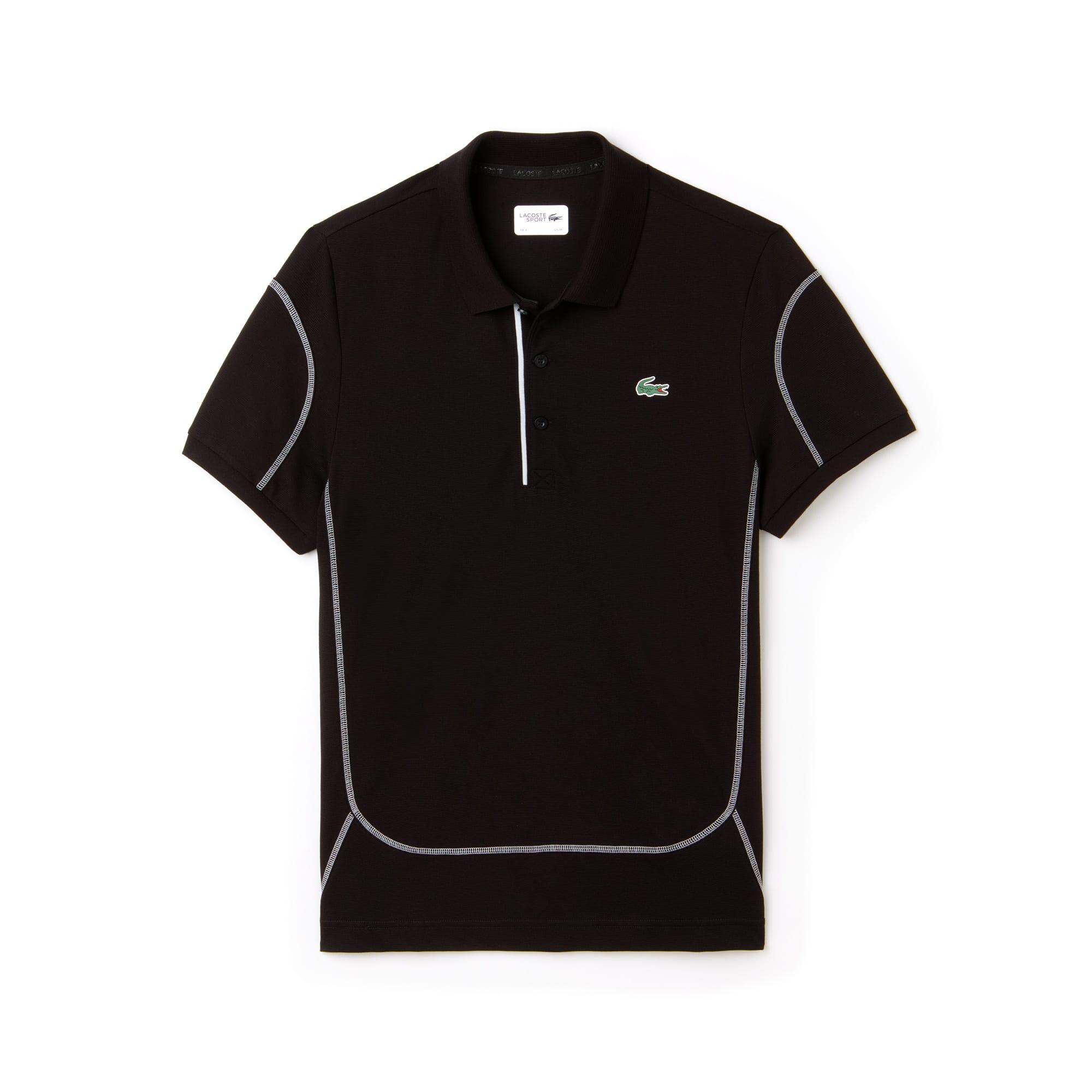 15b70bd7db Polo Tennis Lacoste SPORT en coton ultra léger à coutures ...