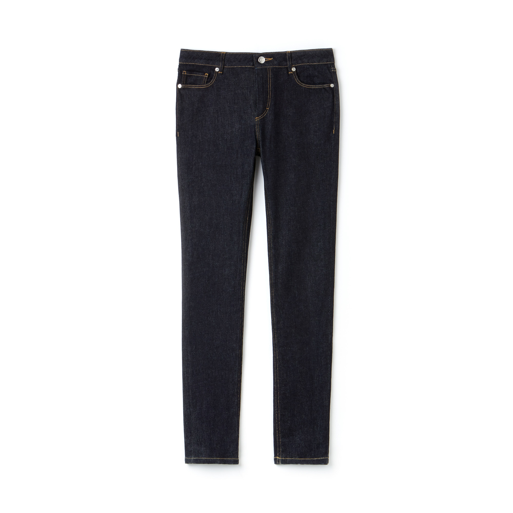 Jean slim fit en denim de coton stretch uni