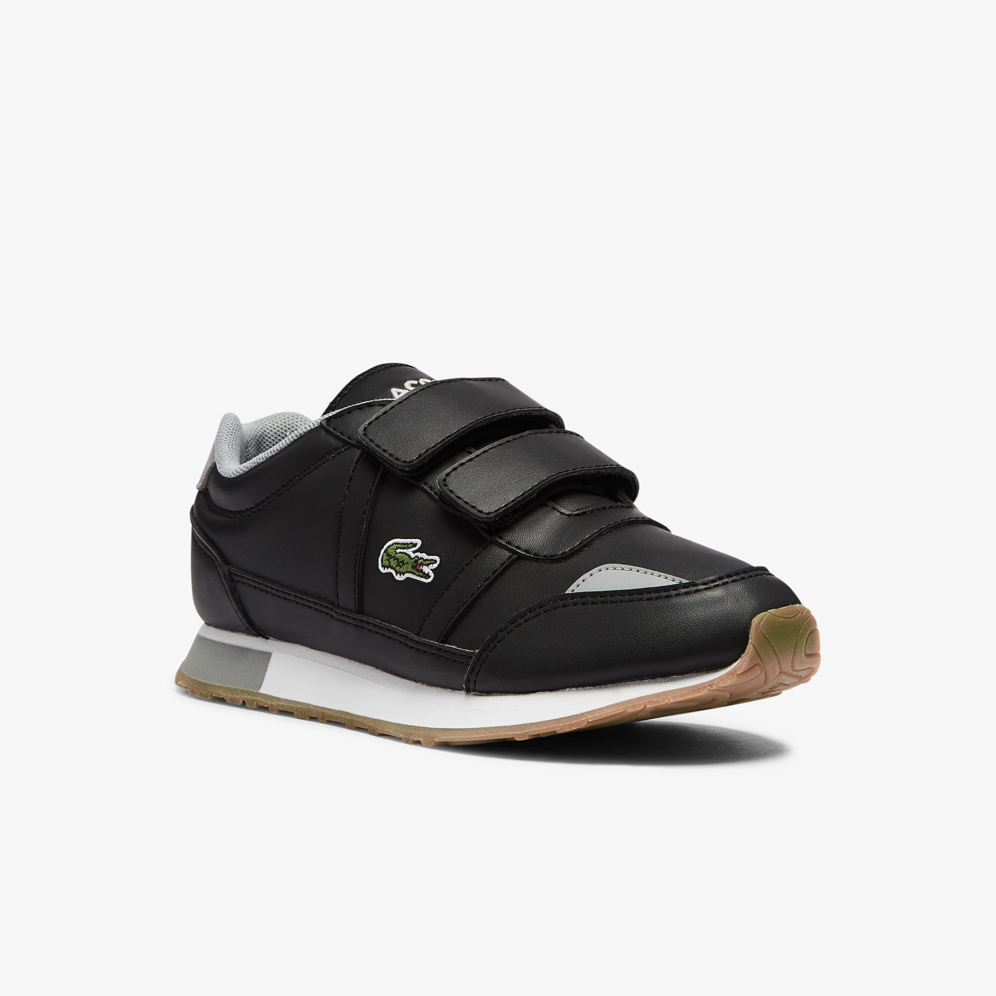 Lacoste Sneakers Partner enfant en tissu Taille 32 Noir/gris
