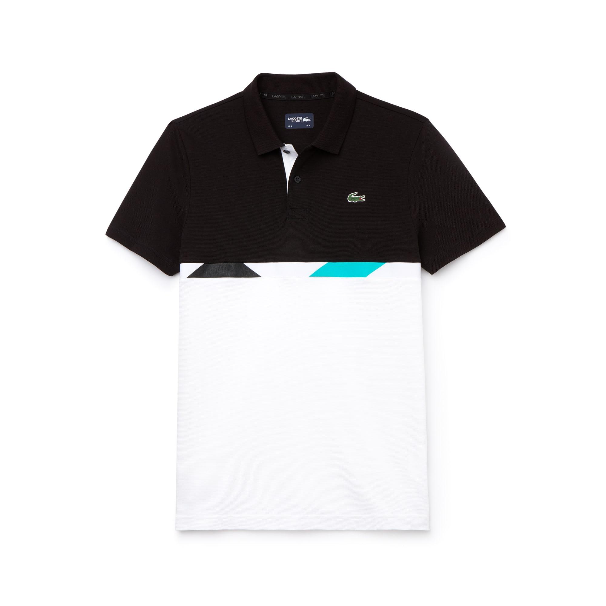Polo Tennis Lacoste SPORT en coton ultra léger à bande color block