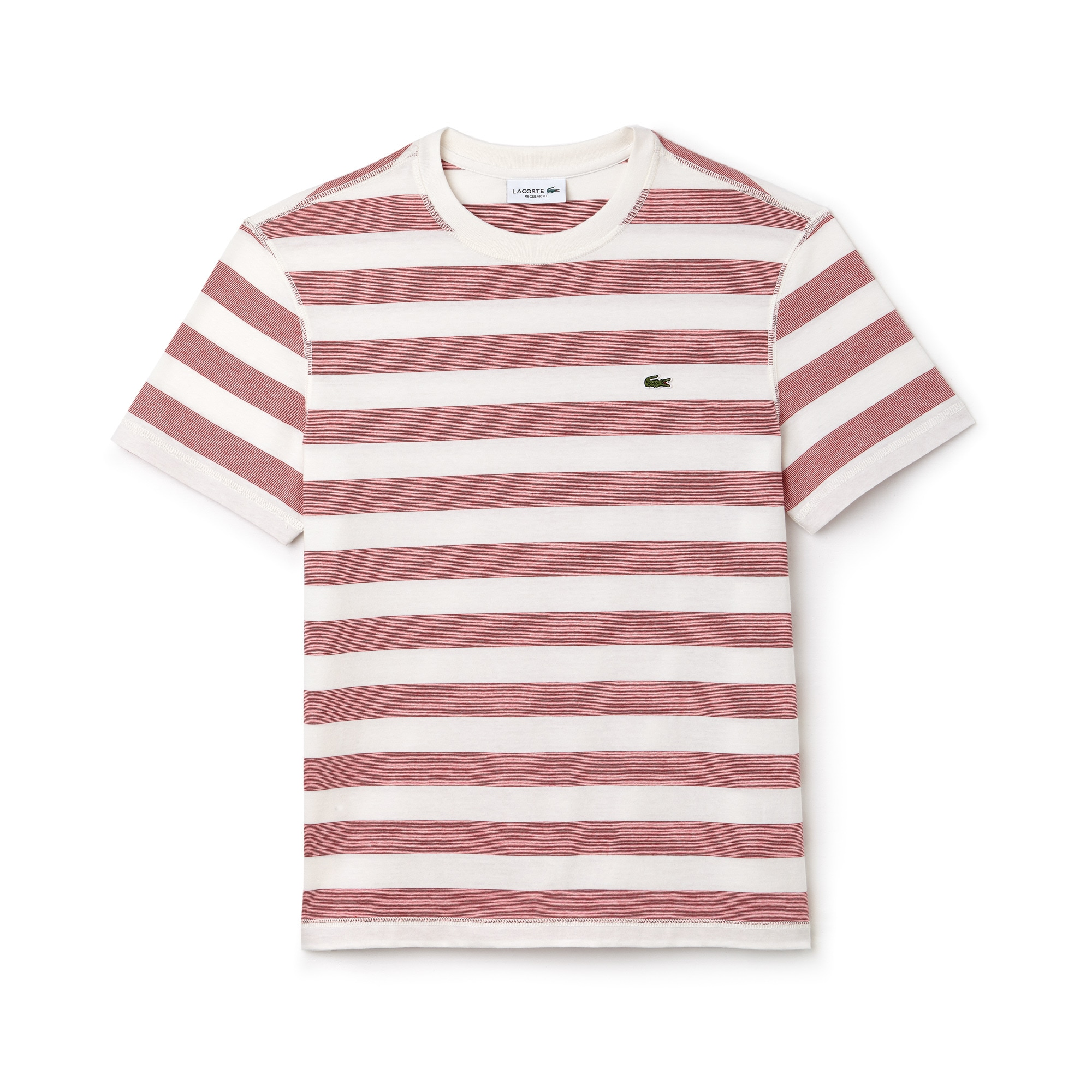 T-shirt col rond en jersey de coton à rayures