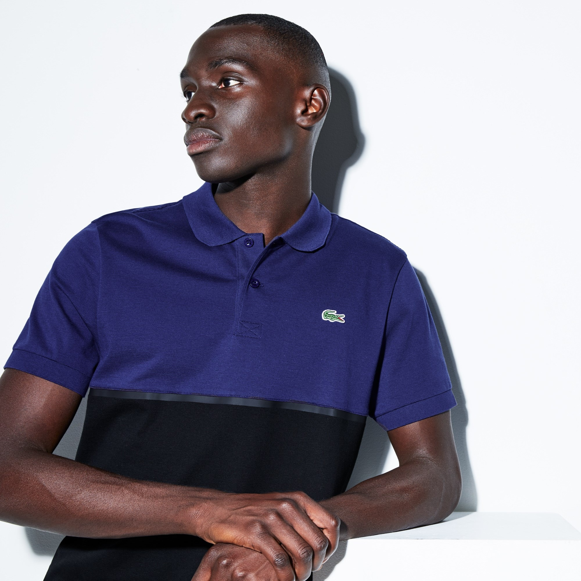 Polo Tennis Lacoste SPORT en coton ultra léger color block