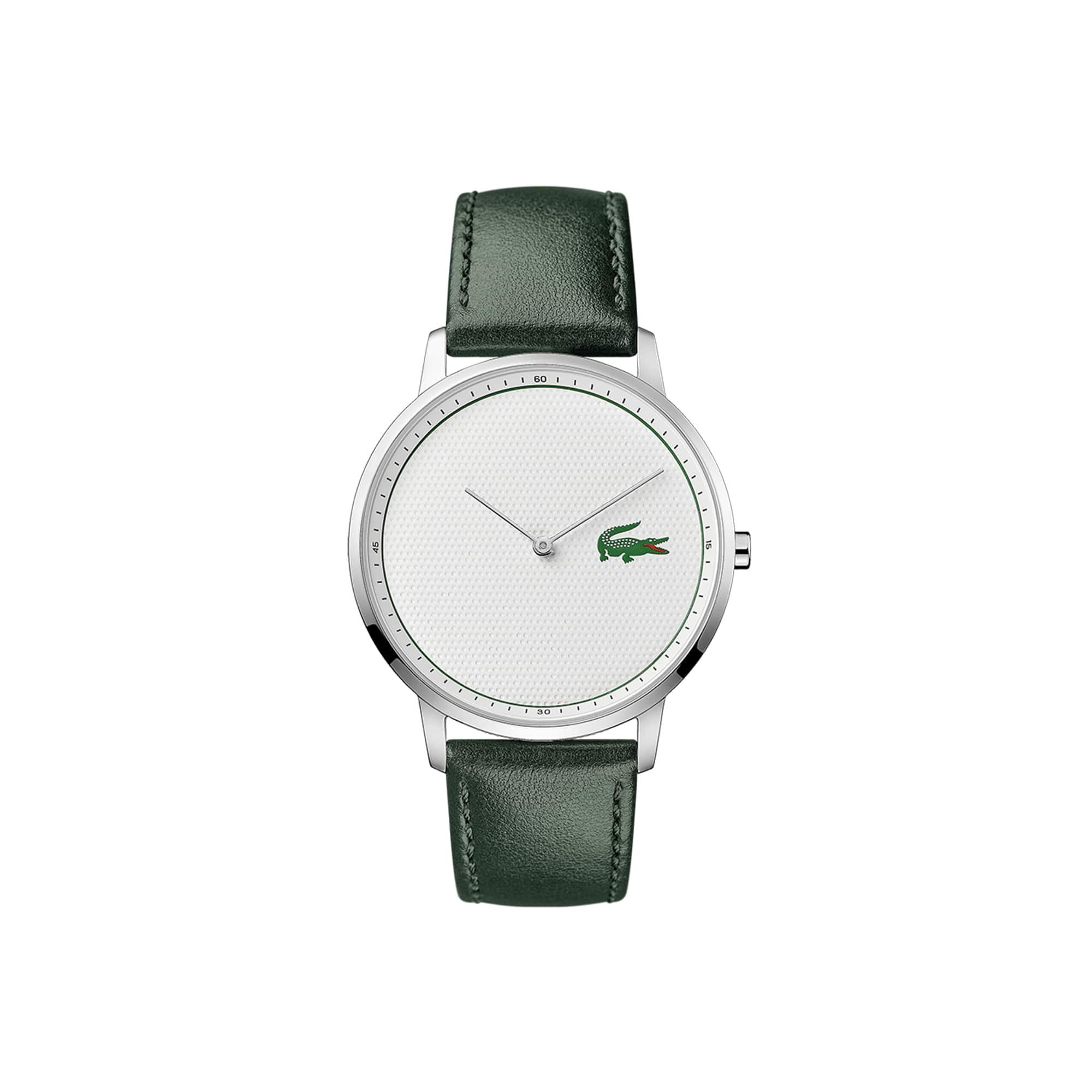 ce92ad07bd Montre Homme Moon Golf avec Bracelet Cuir Vert