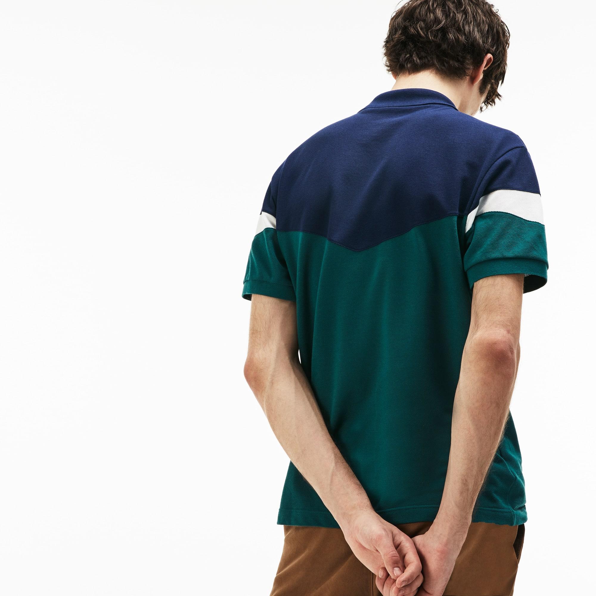 Lacoste - Polo classic fit Lacoste en petit piqué de coton color block - 2