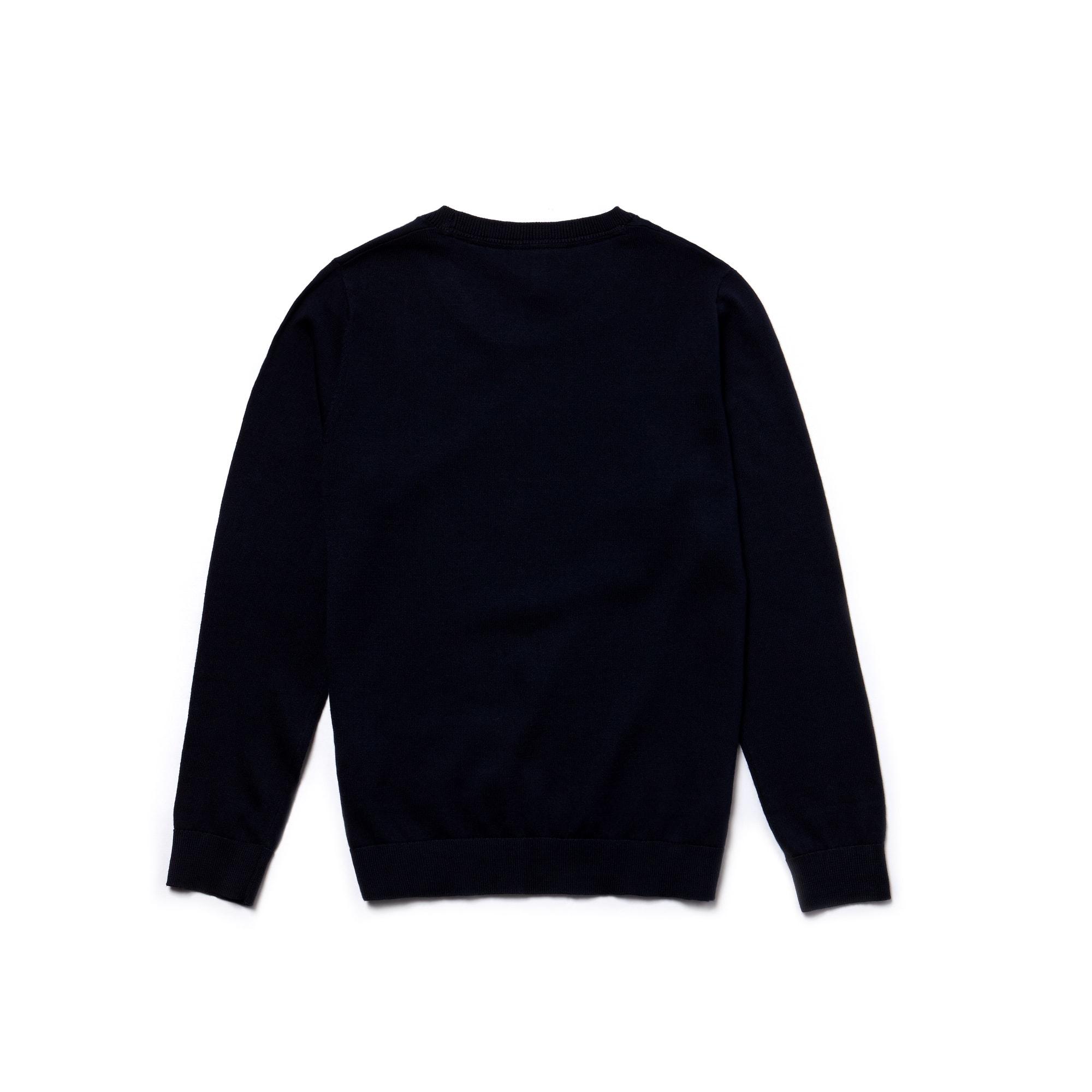 c645528d7e Pull Garçon col rond en jersey de coton uni   LACOSTE