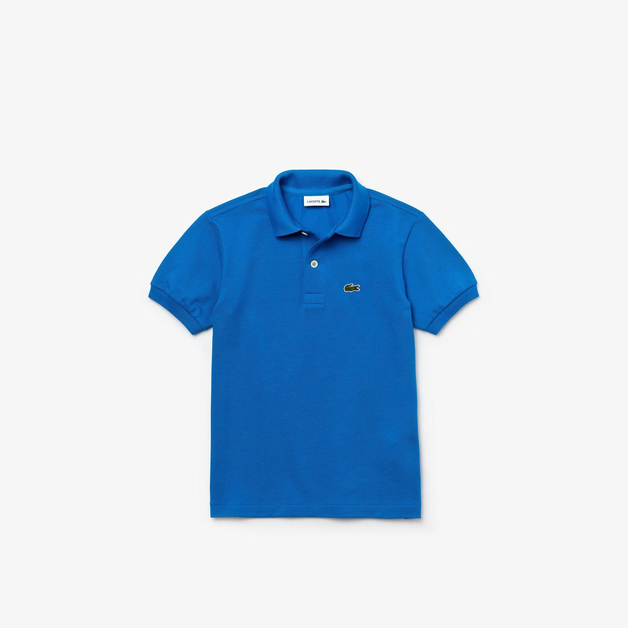 Polo Enfant Lacoste regular fit en petit piqué uni Taille 12 ans Bleu