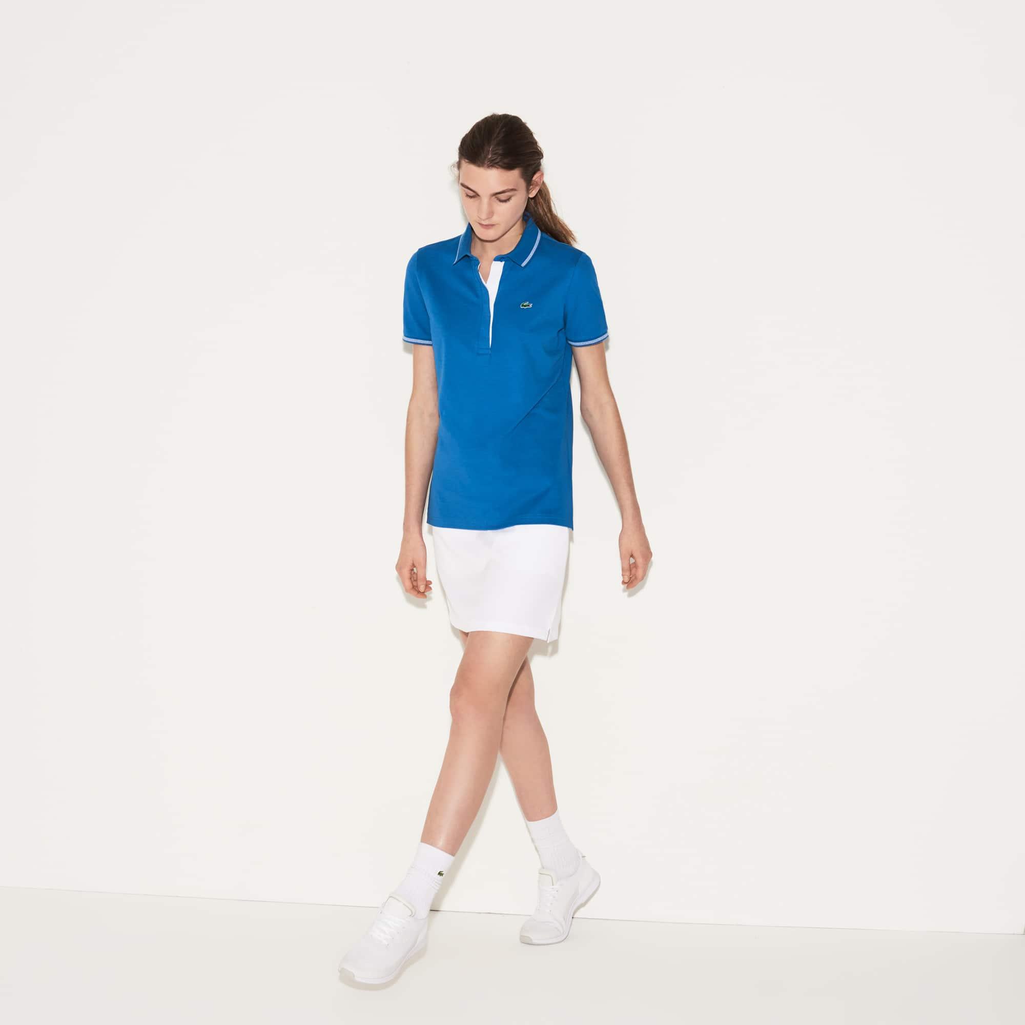 Polo technique Golf Lacoste SPORT en coton léger stretch uni