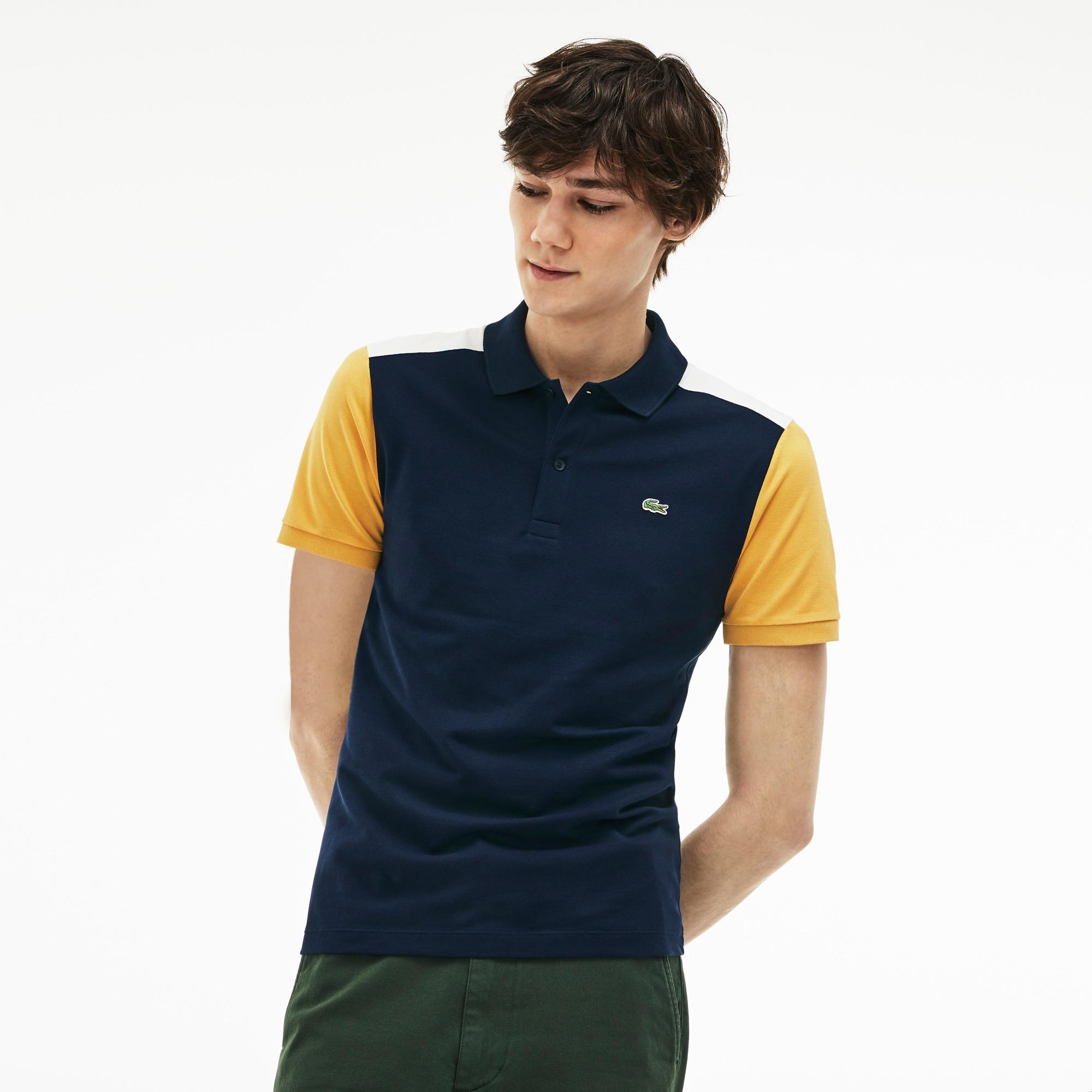Lacoste - Polo slim fit Lacoste en piqué de coton Pima stretch color block - 4