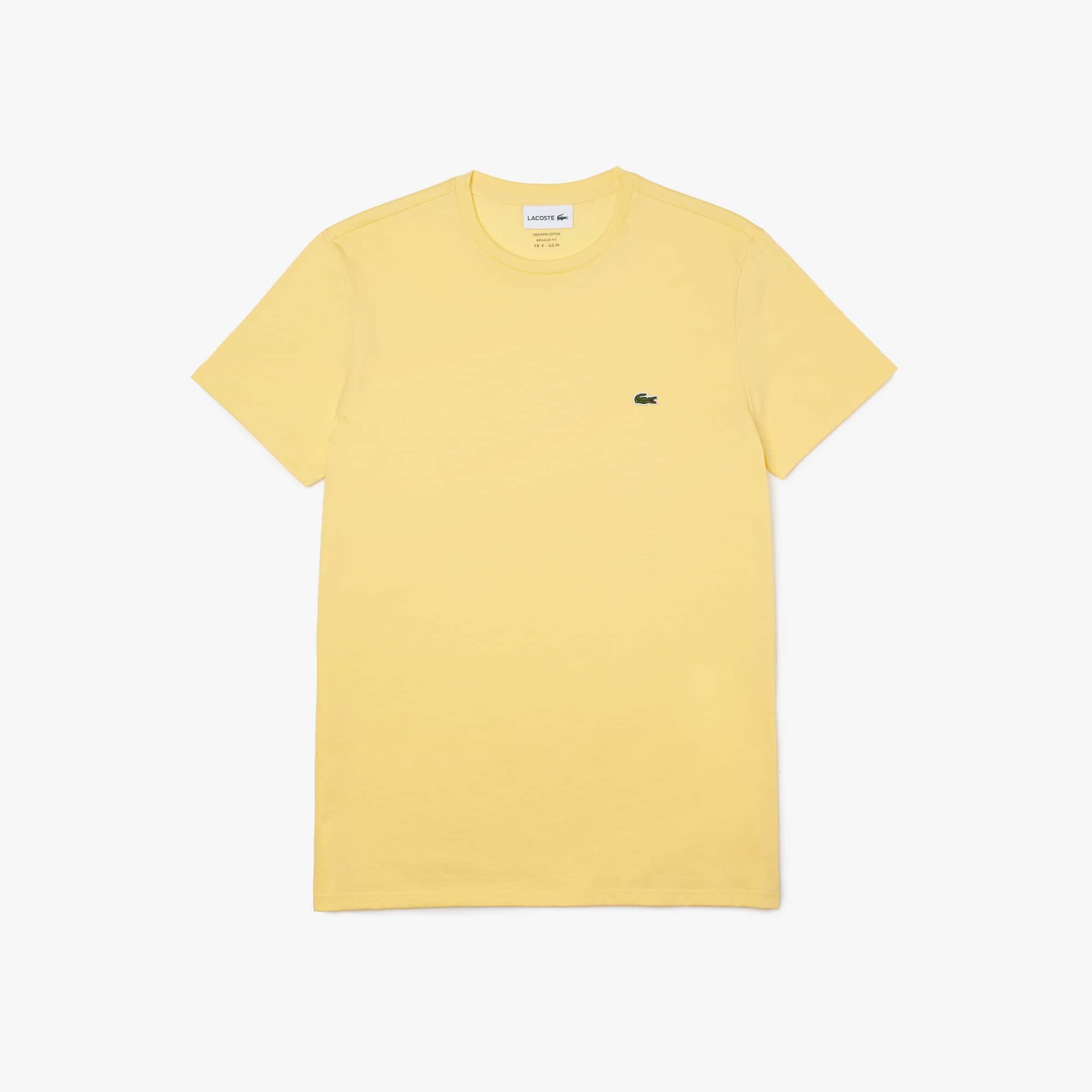 0ee3d39e1486 T-shirt col rond en jersey de coton pima uni
