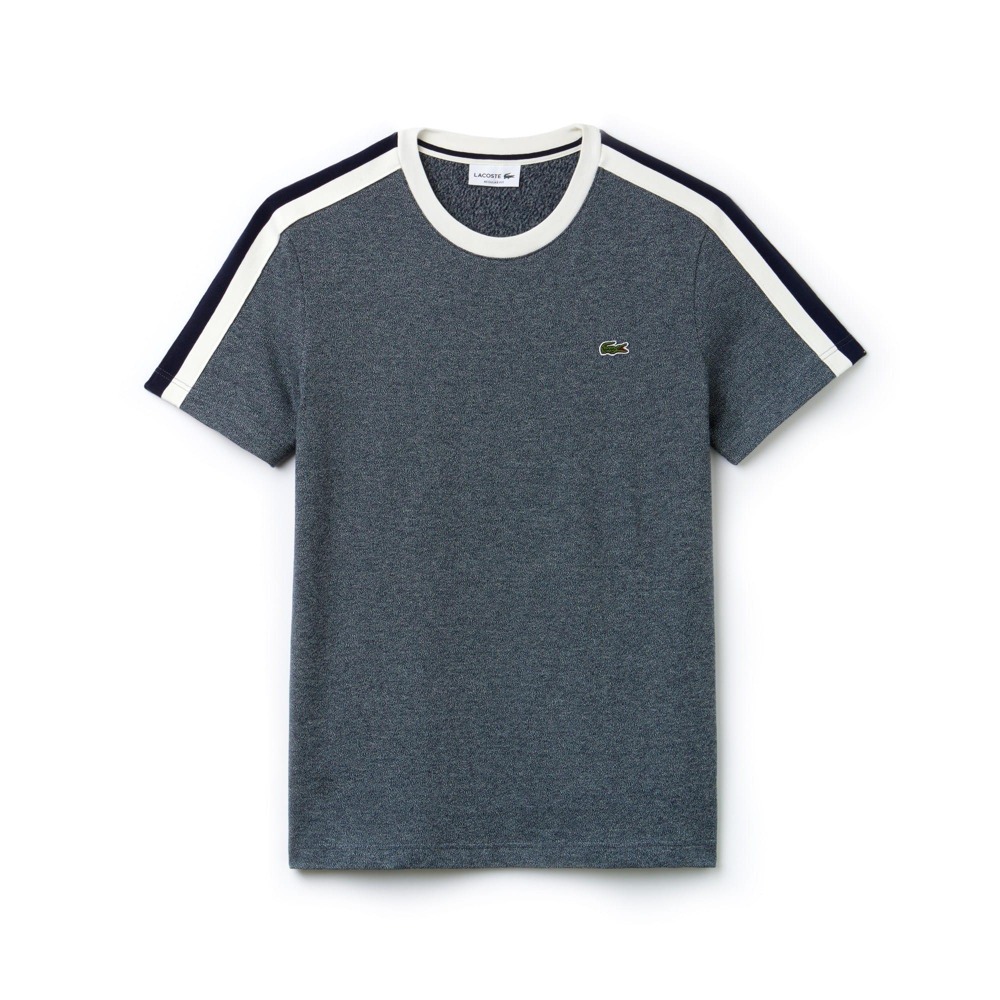 T-shirt col rond en jersey à bandes contrastées