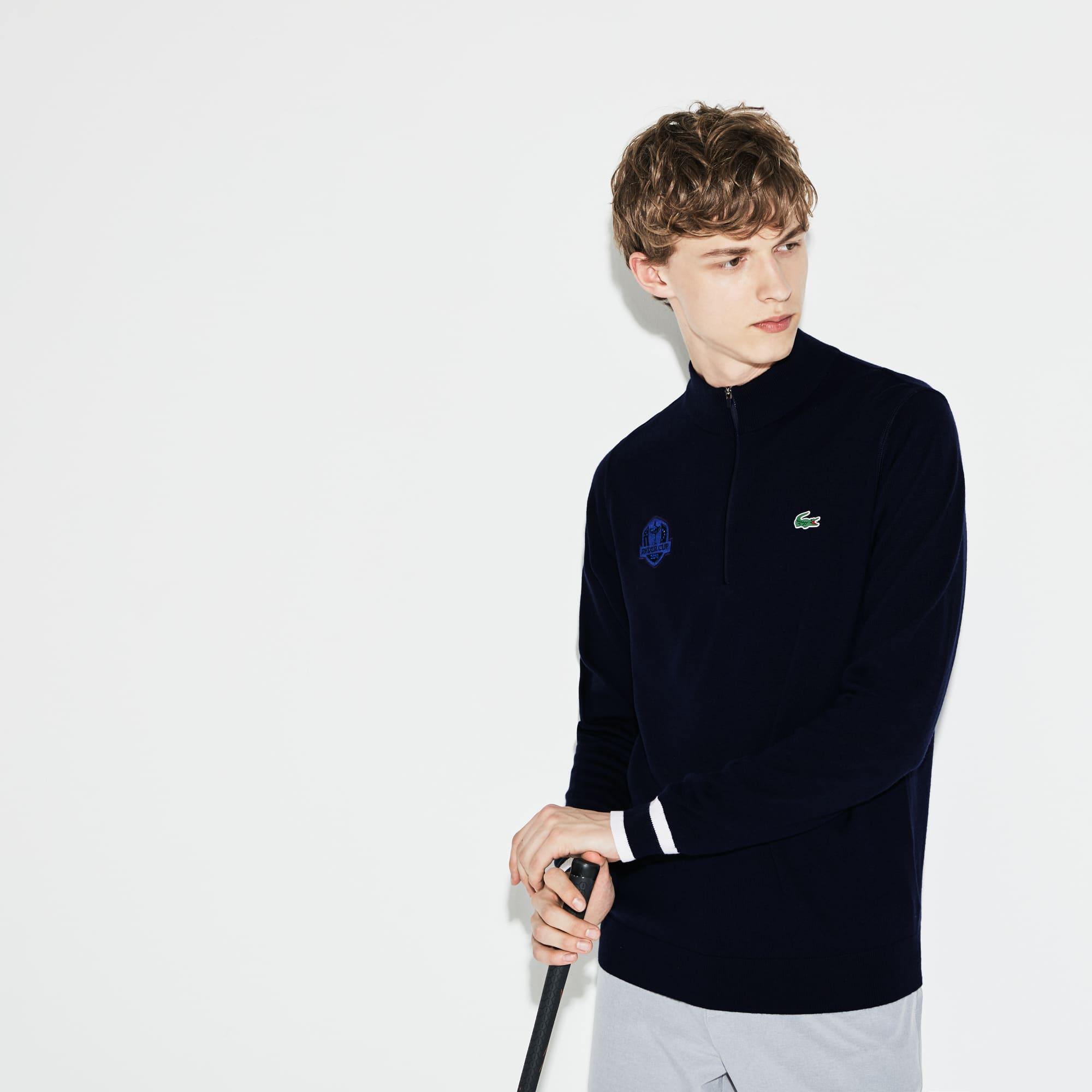 Sweatshirt col zippé Golf Lacoste SPORT en jersey Édition Ryder Cup