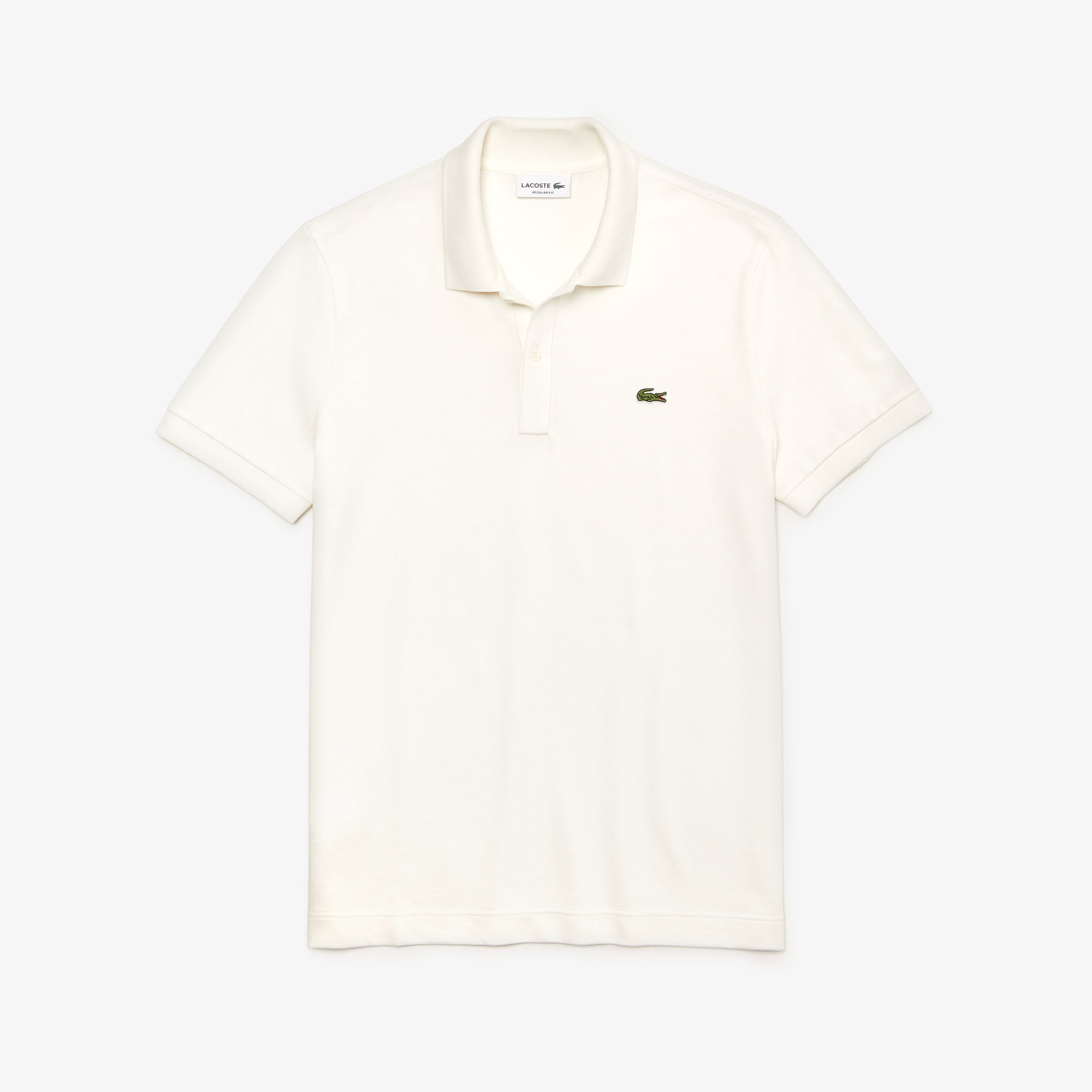 Polo Lacoste regular fit en piqué thermorégulateur uni