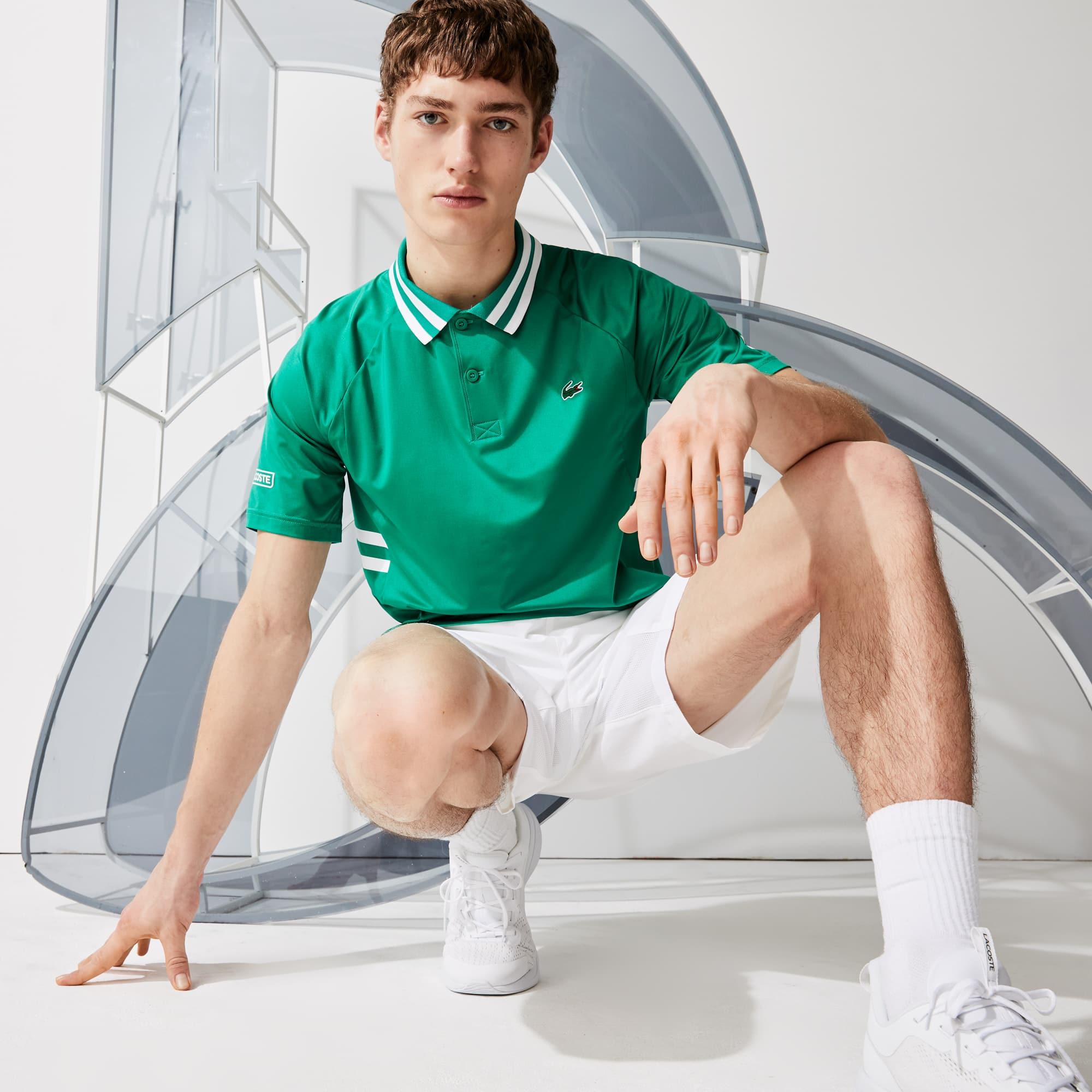 Polo Lacoste SPORT x Novak Djokovic ultra léger et respirant Taille 4 - M Vert / Blanc