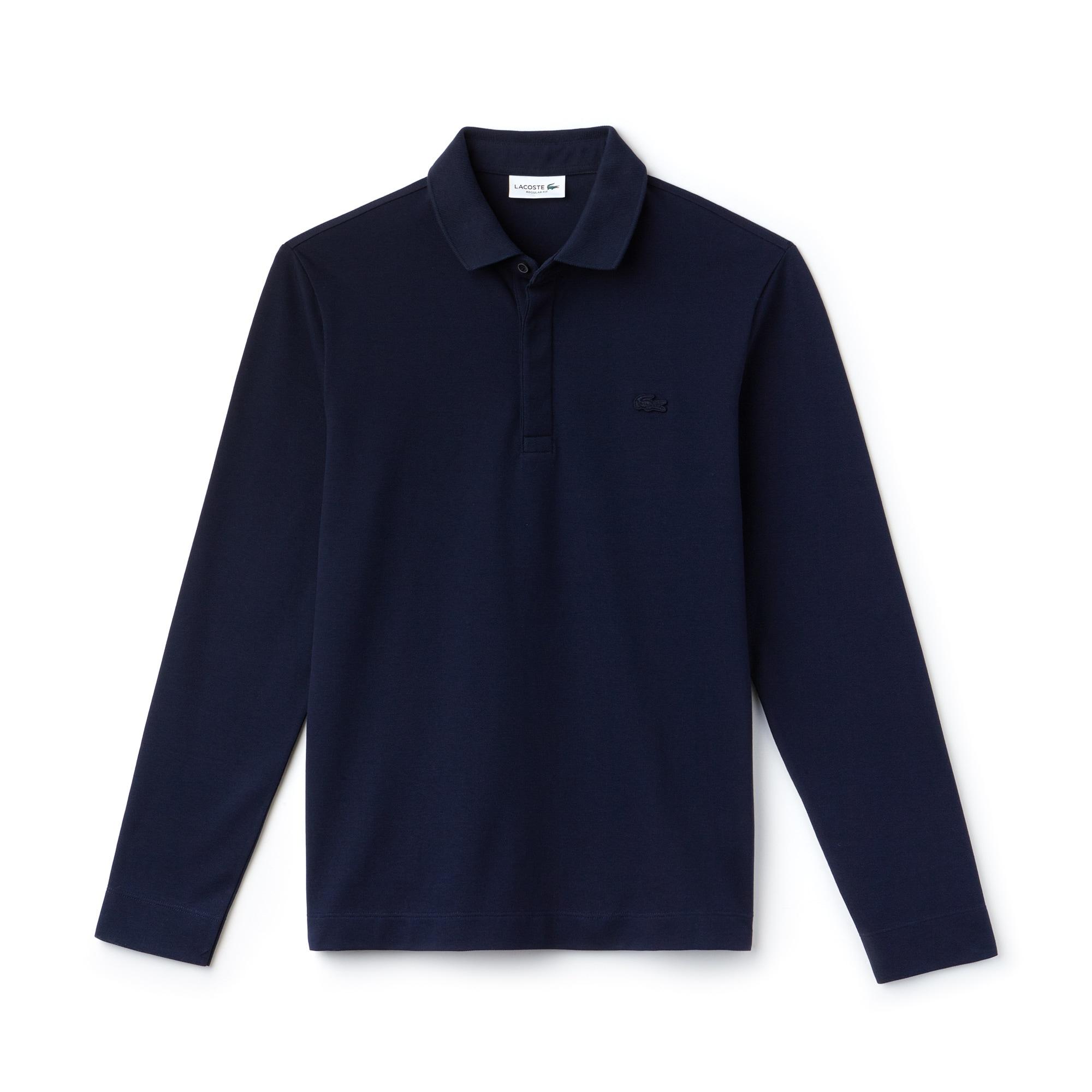 Paris Polo Regular Fit Lacoste à manches longues en piqué de coton stretch