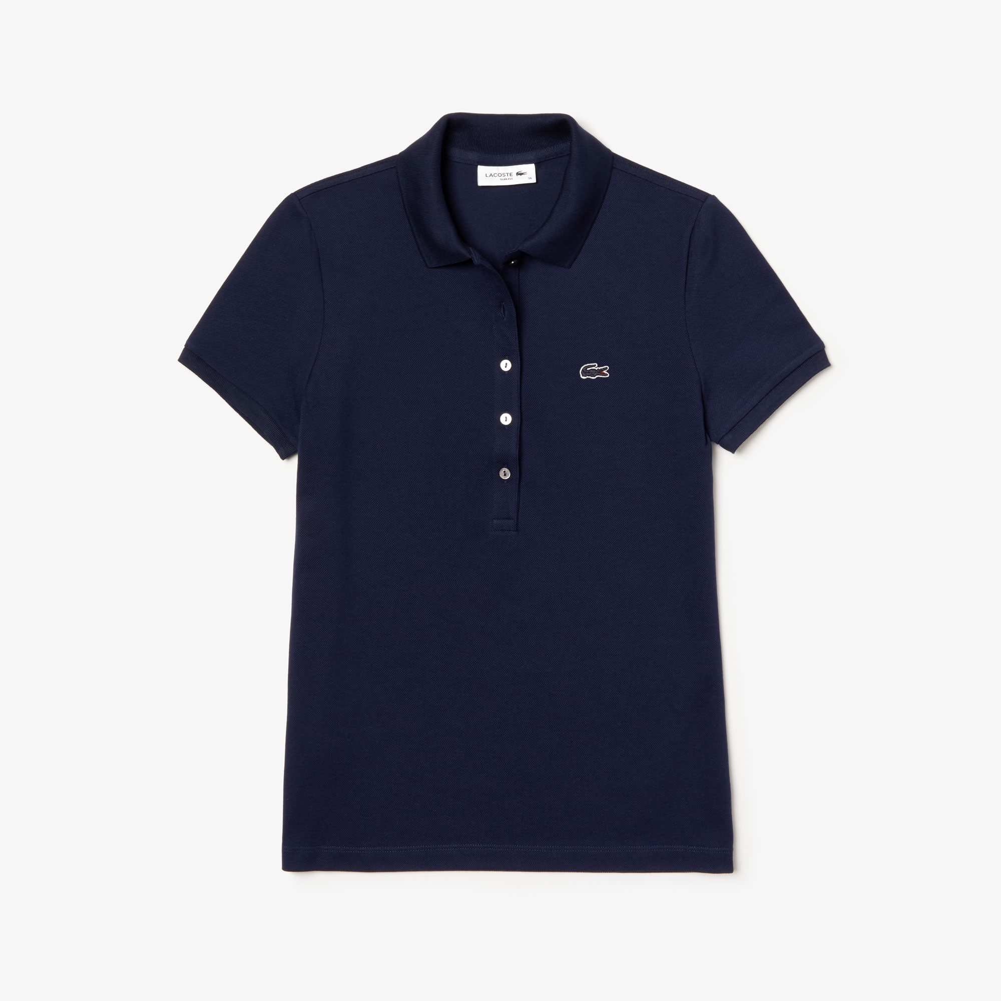 1604a8c0cb1 De Stretch Piqué Coton Mini Uni En Fit Slim Polo Lacoste nH4BTBp