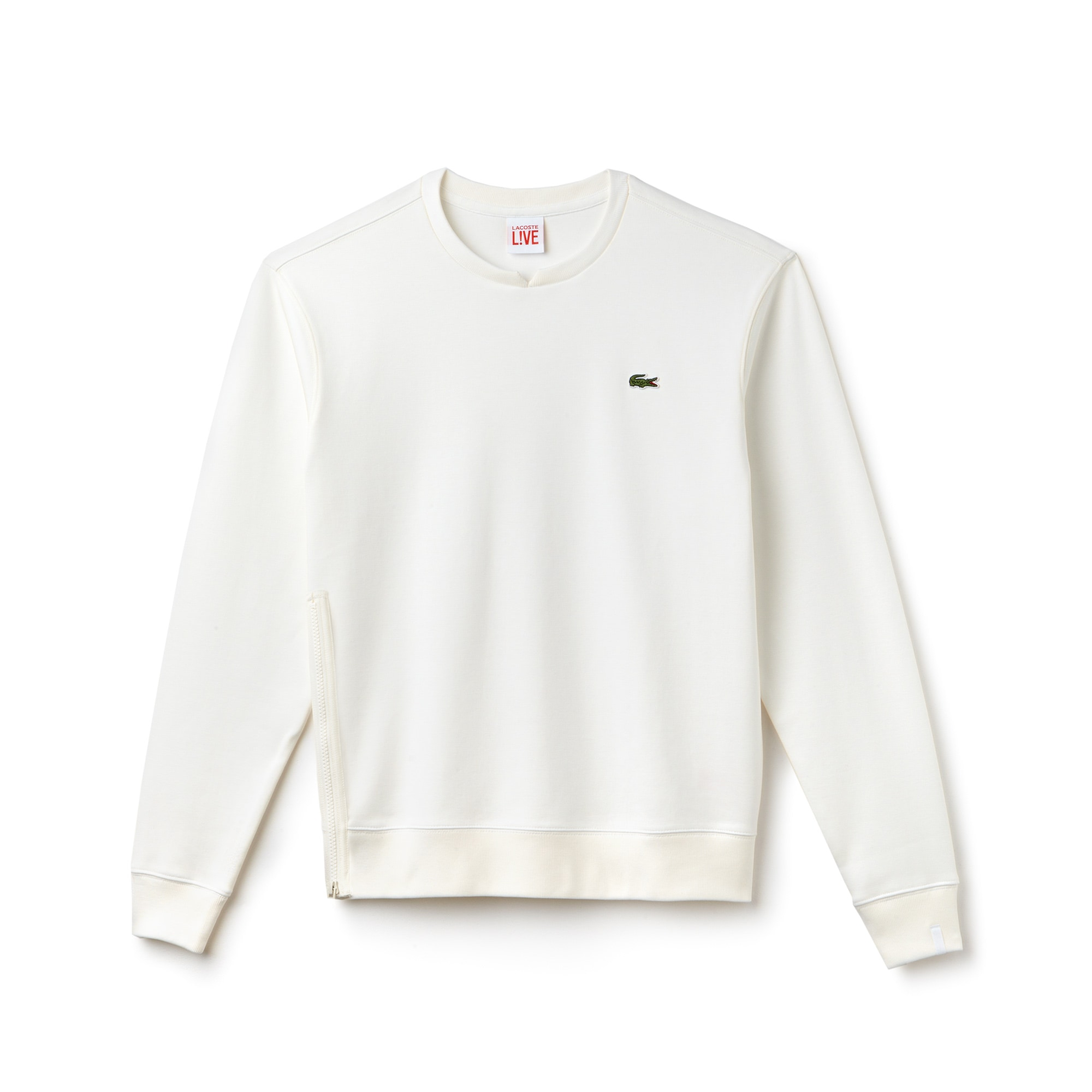 Sweatshirt Lacoste LIVE en interlock avec fermeture zippée