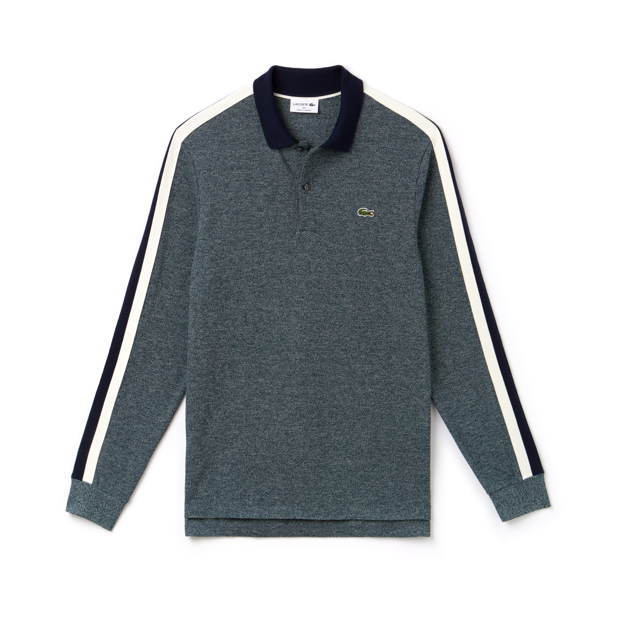 Polo regular fit manches longues Lacoste Made in France en piqué