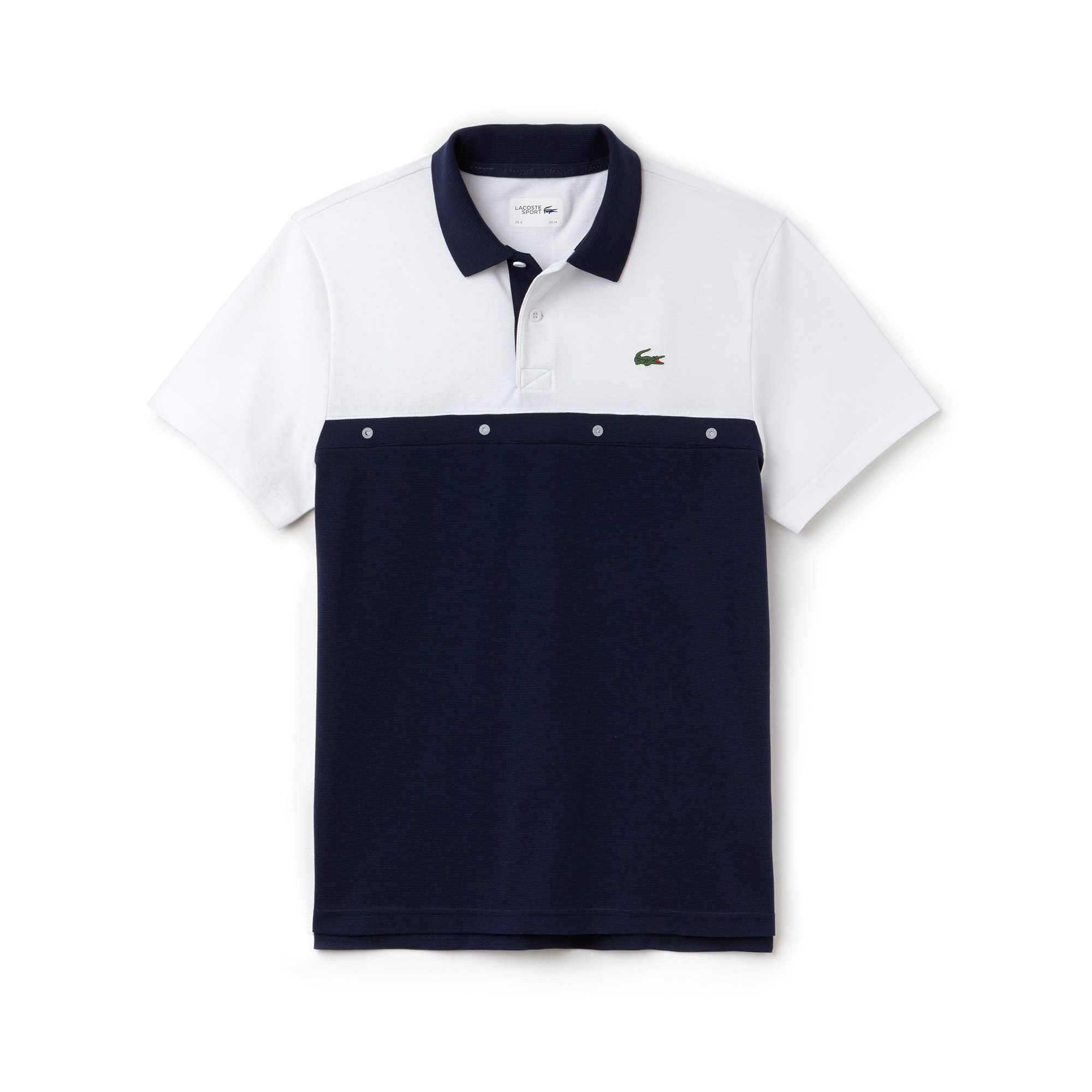 Polo Tennis Lacoste SPORT en maille de coton color block