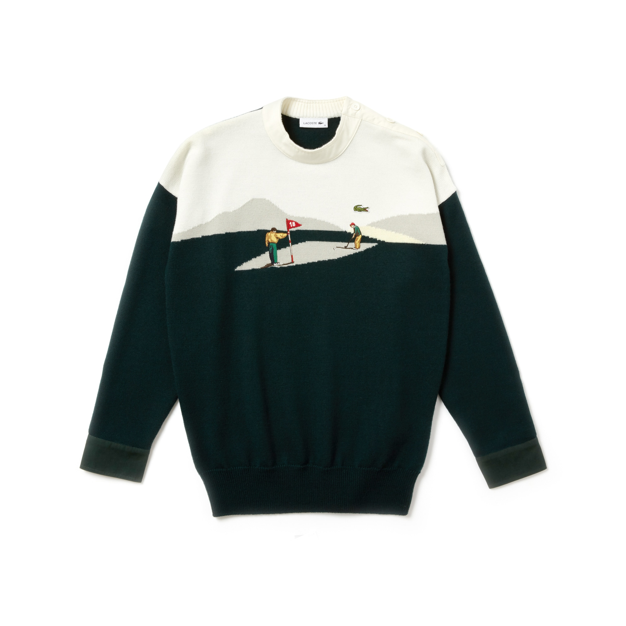 Pull tricoté en laine avec broderie Édition Défilé