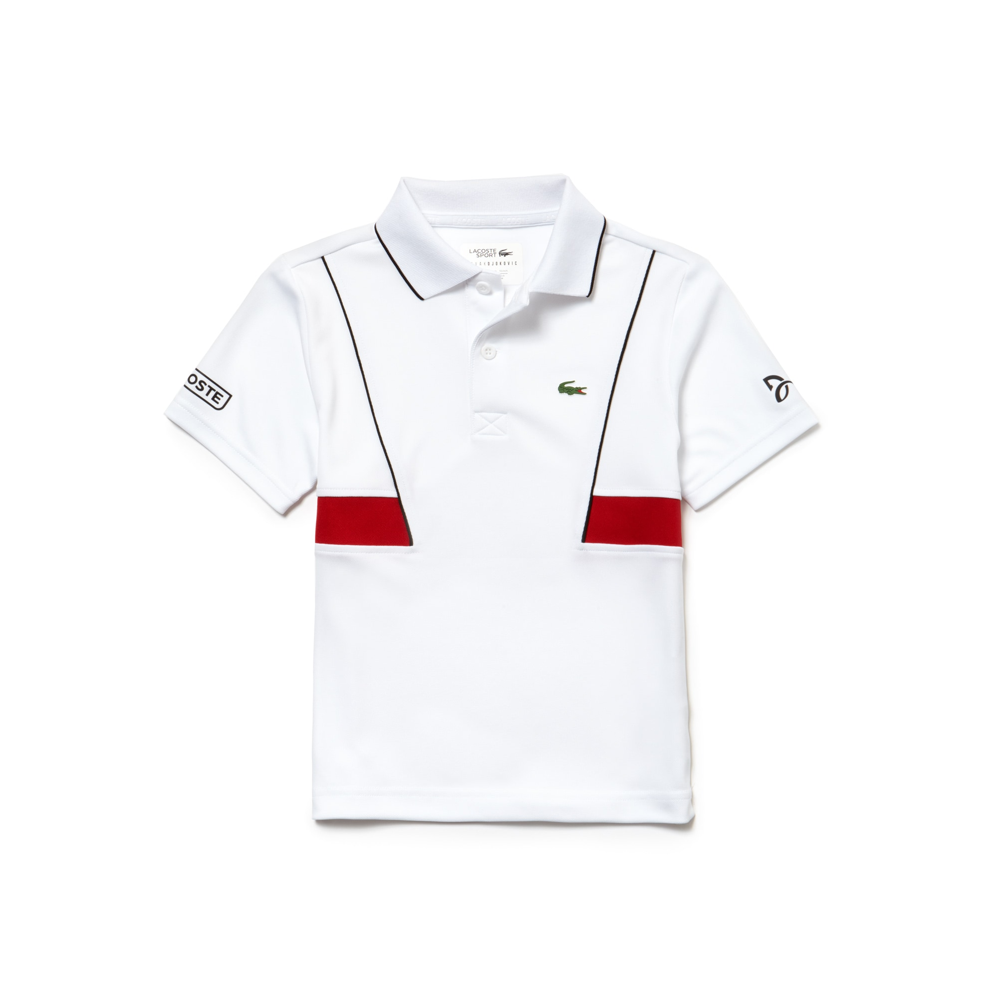 Polo Garçon LACOSTE SPORT COLLECTION NOVAK DJOKOVIC en piqué technique