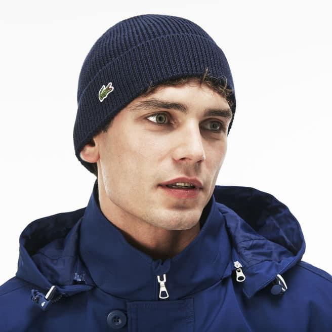 bonnet lacoste homme bleu