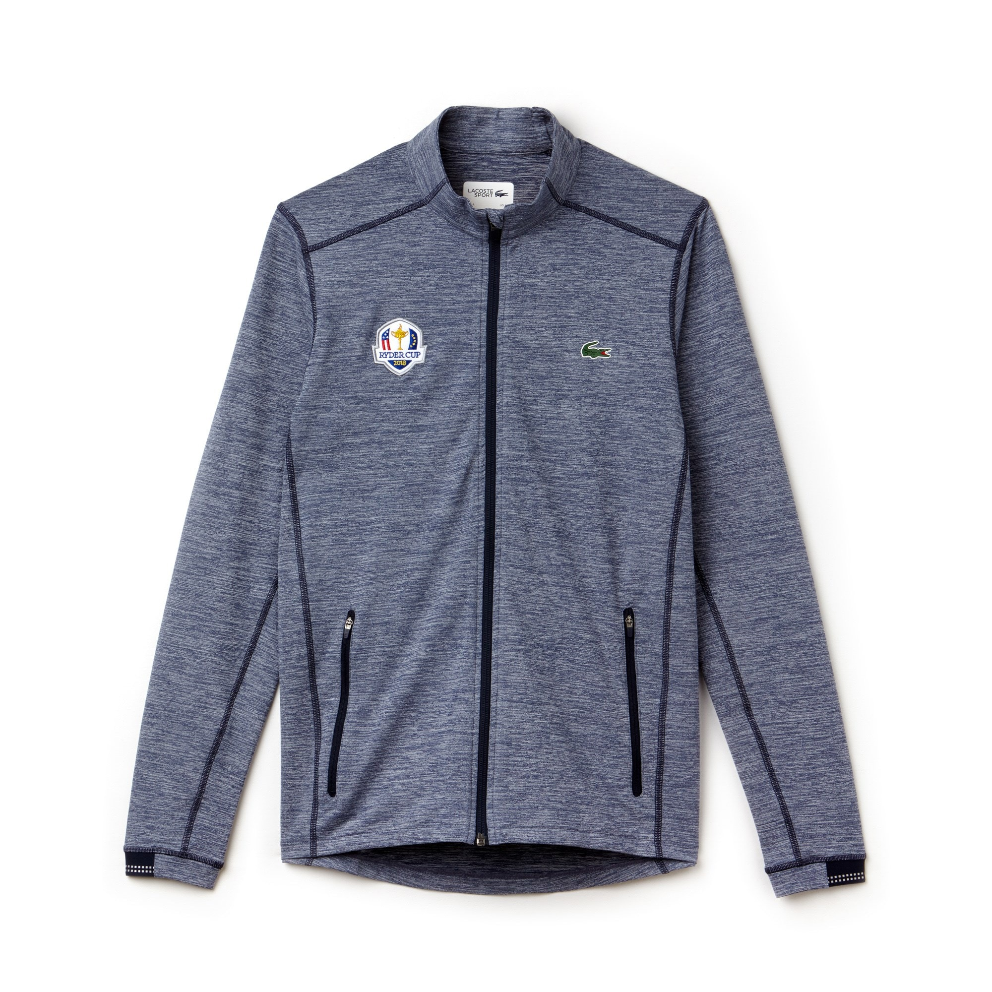 Sweatshirt zippé Golf Lacoste SPORT en midlayer Édition Ryder Cup