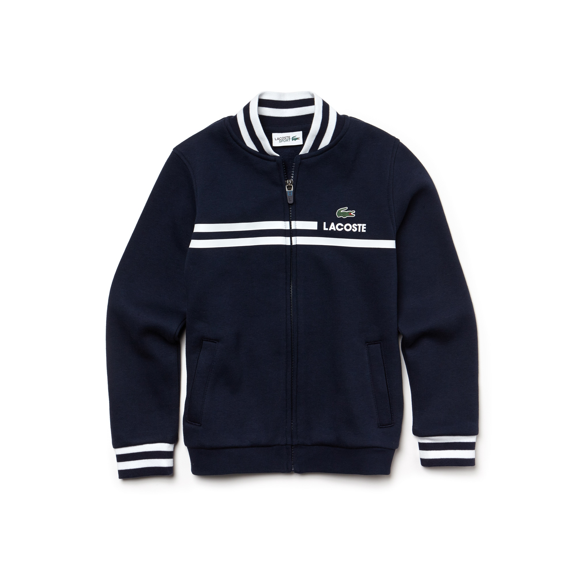 Sweatshirt zippé Garçon Tennis Lacoste SPORT en molleton