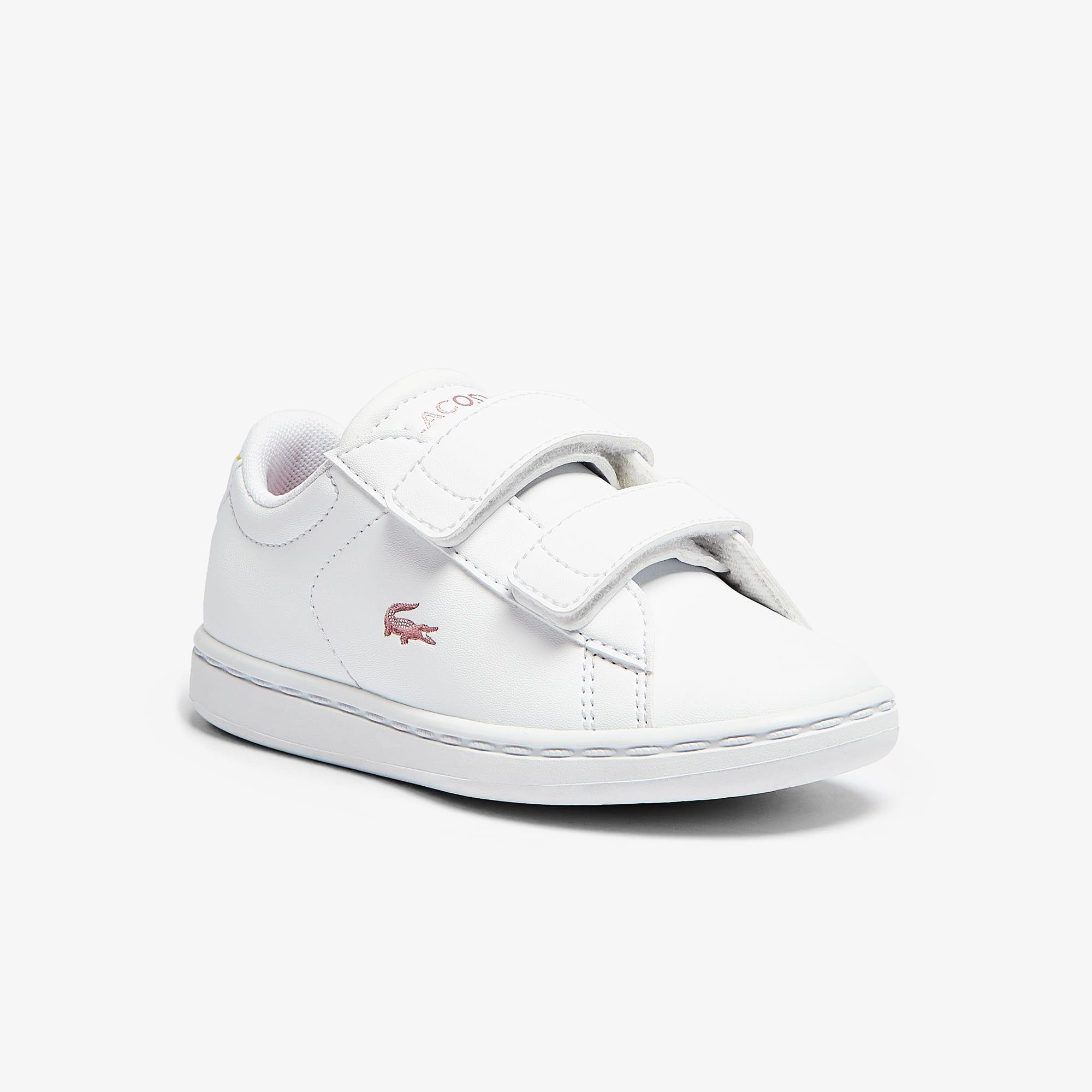 Lacoste Sneakers Carnaby Evo bébé avec détails métallisés Taille 19 Blanc/rose