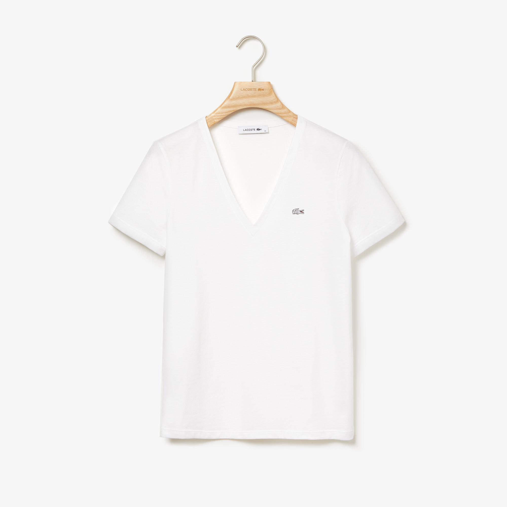 Col Jersey Shirt UniLacoste Fit Coton De Slim T En V zUVGMpqS