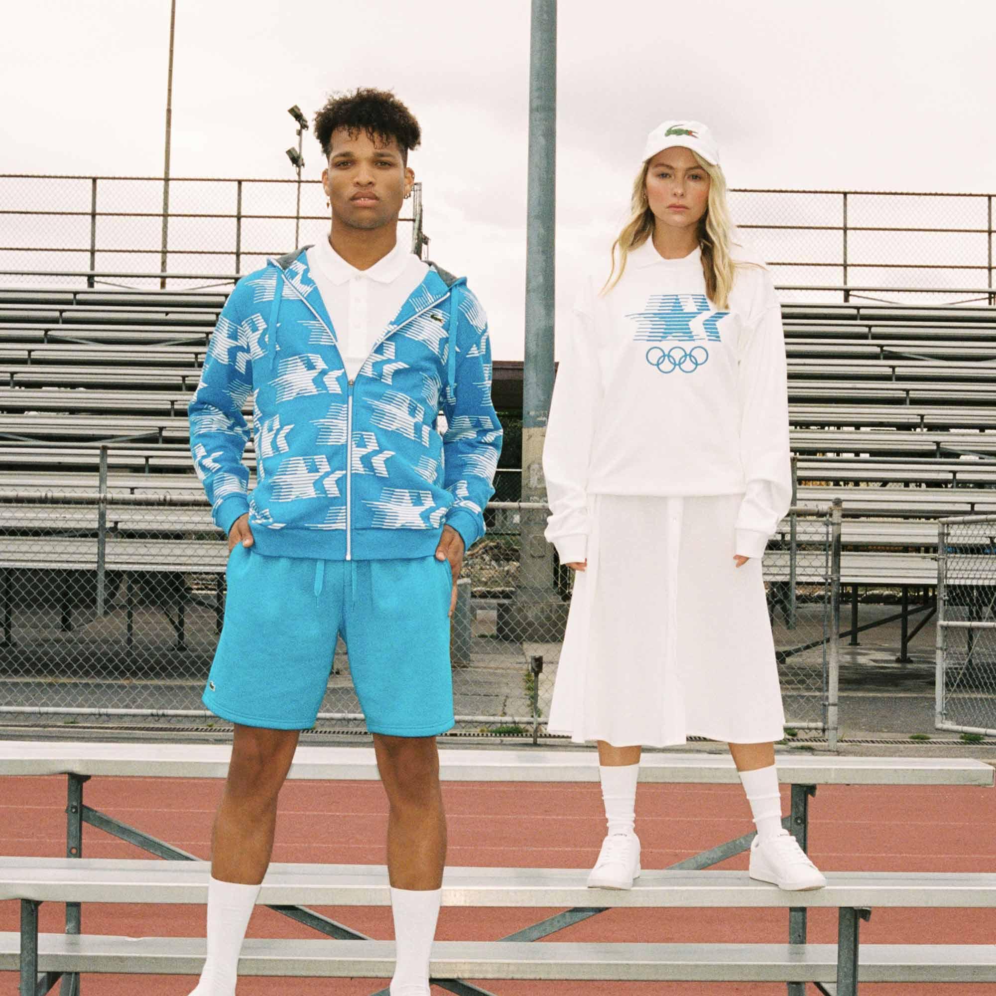 Lacoste By Collection Olympic Imprimé Capuche Heritage À Sweatshirt Zippé w8n0Nm