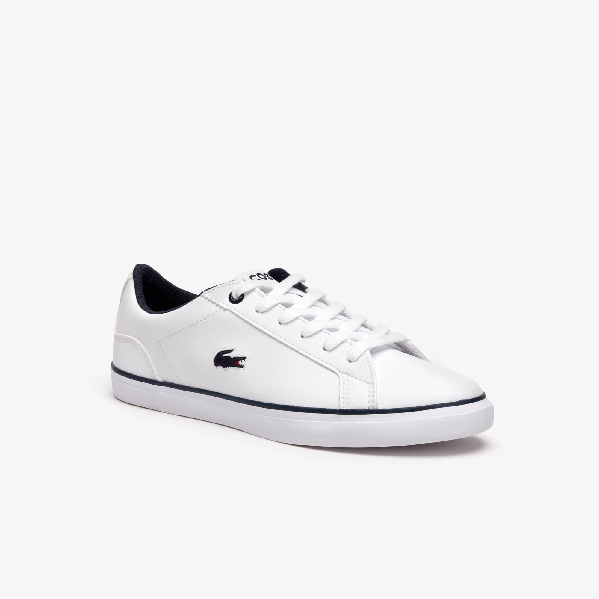 20d8a189ff Sneakers Lerond ado en synthétique avec crocodile ton sur ton